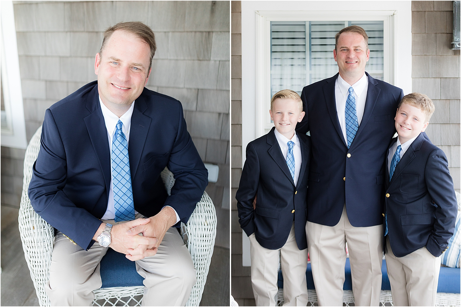 groomsmen portraits in bay head new jersey