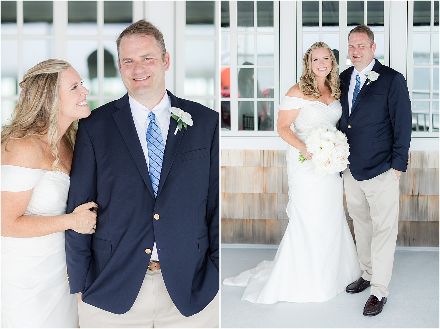 wedding portraits on the upper deck at bay head yacht club