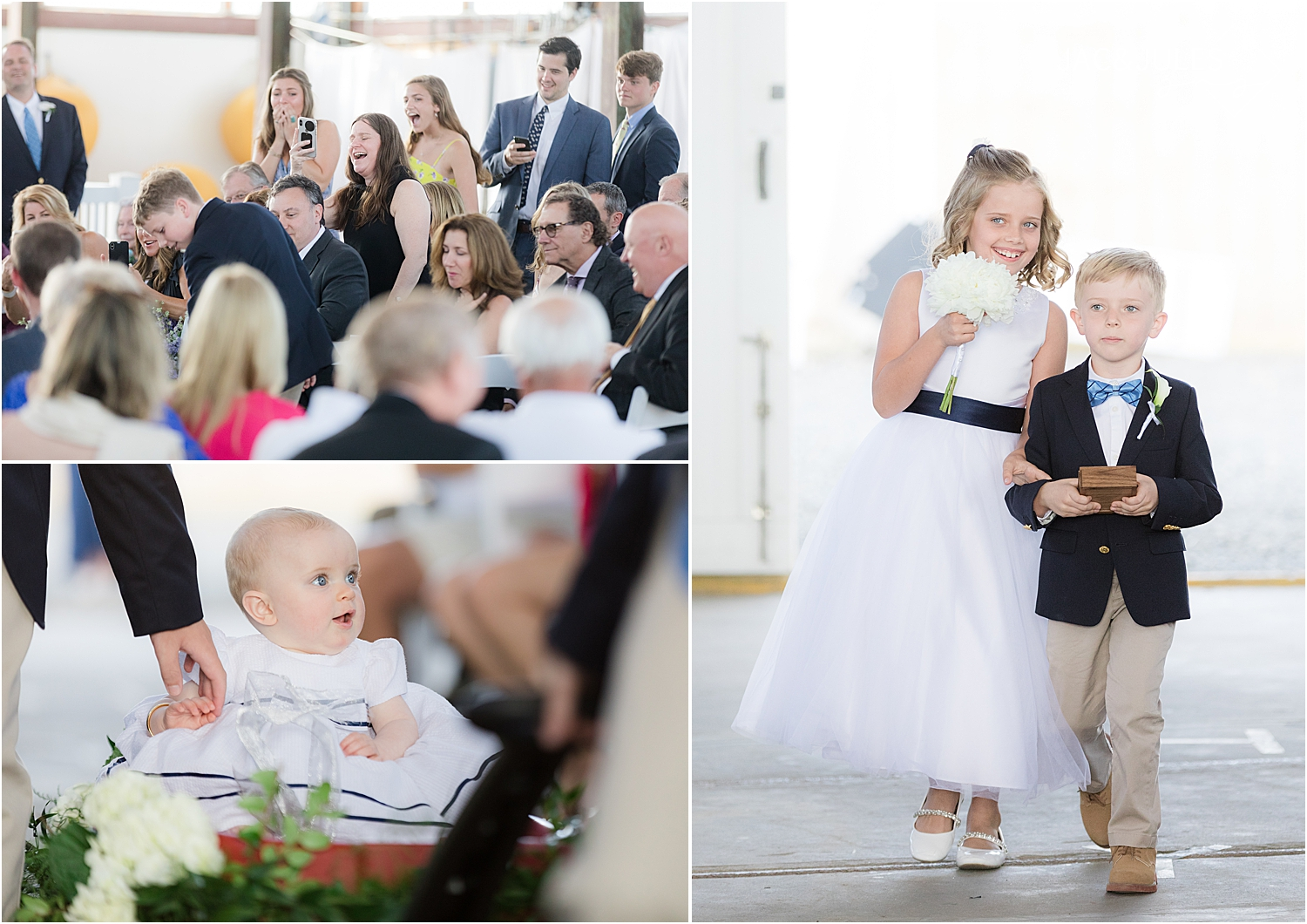 wedding ceremony at boat house chapel at bay head yacht club