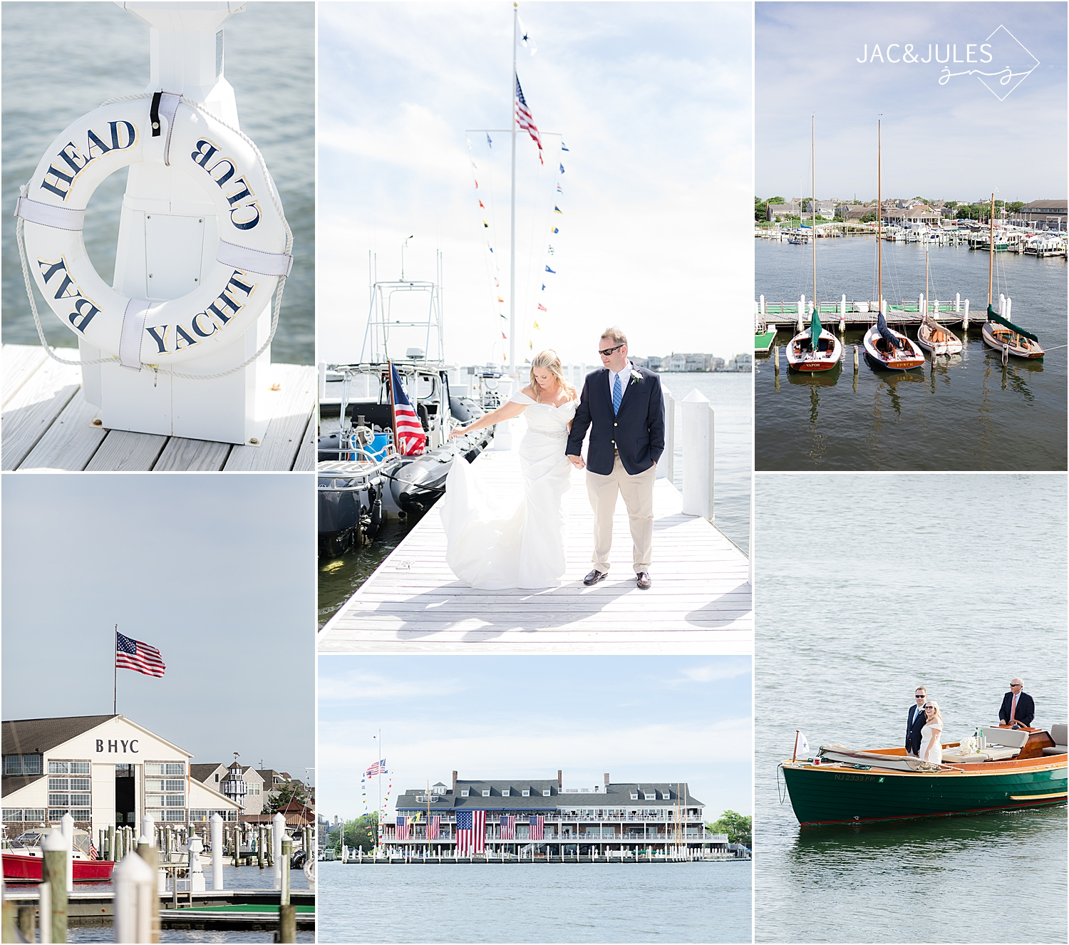 coastal wedding inspiration at a romantic bay head yacht club wedding