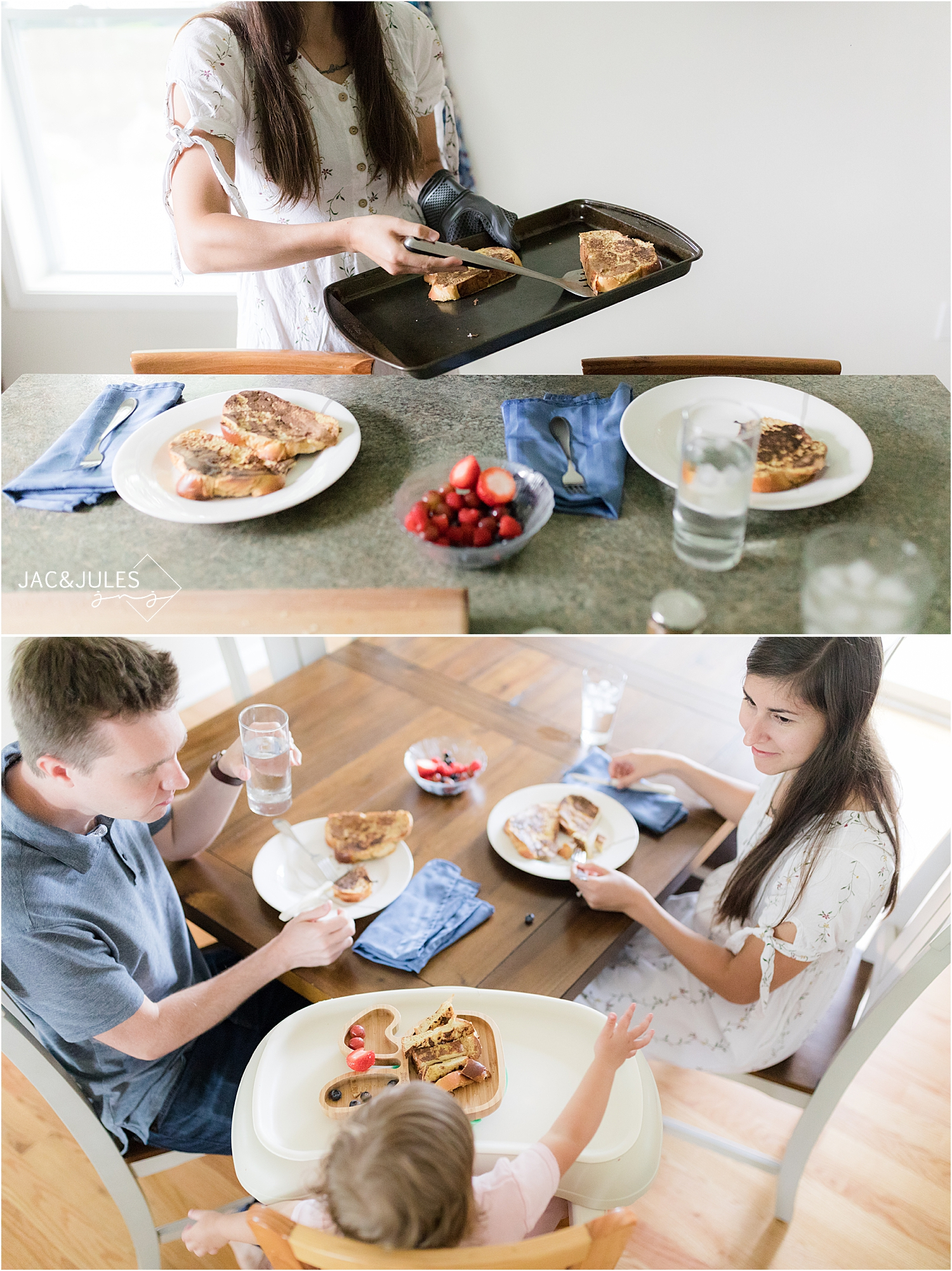 family eating breakfast documentary photo