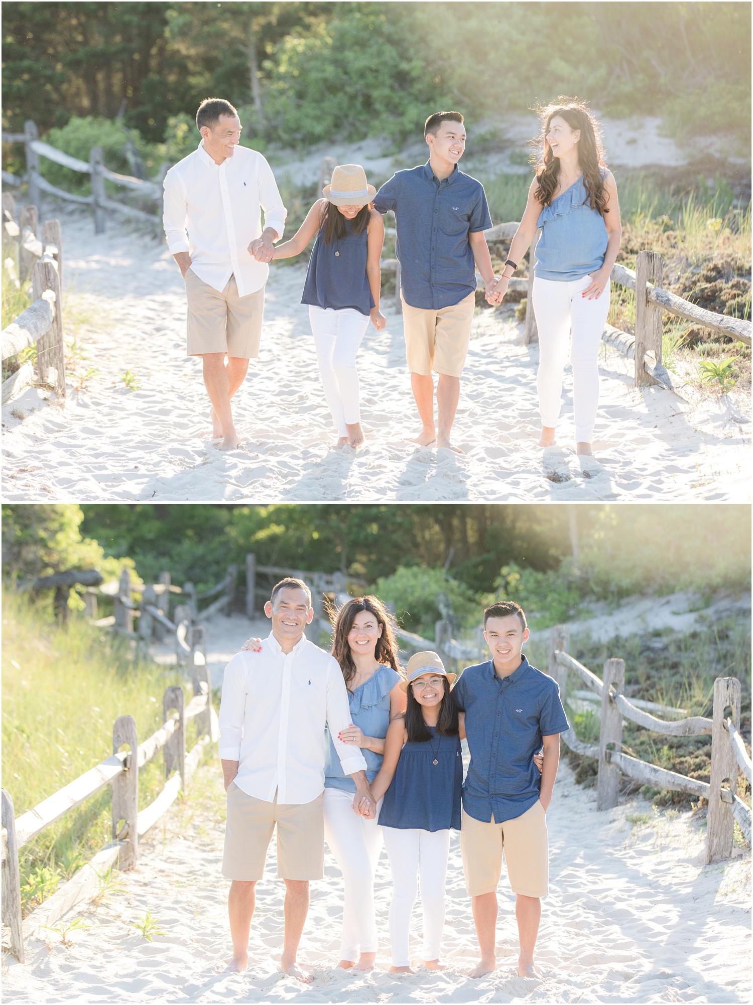 Fun family photos on the beach in Seaside Park.