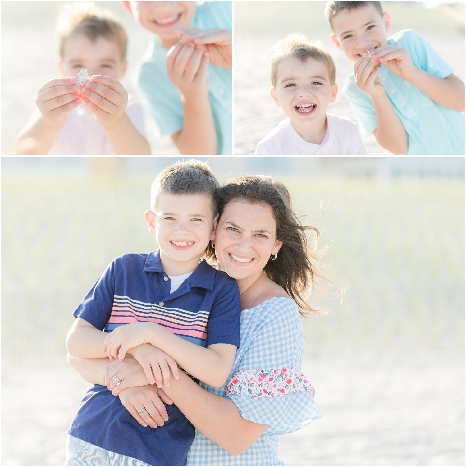 Fun family photos with kids at the beach in Lavallette.