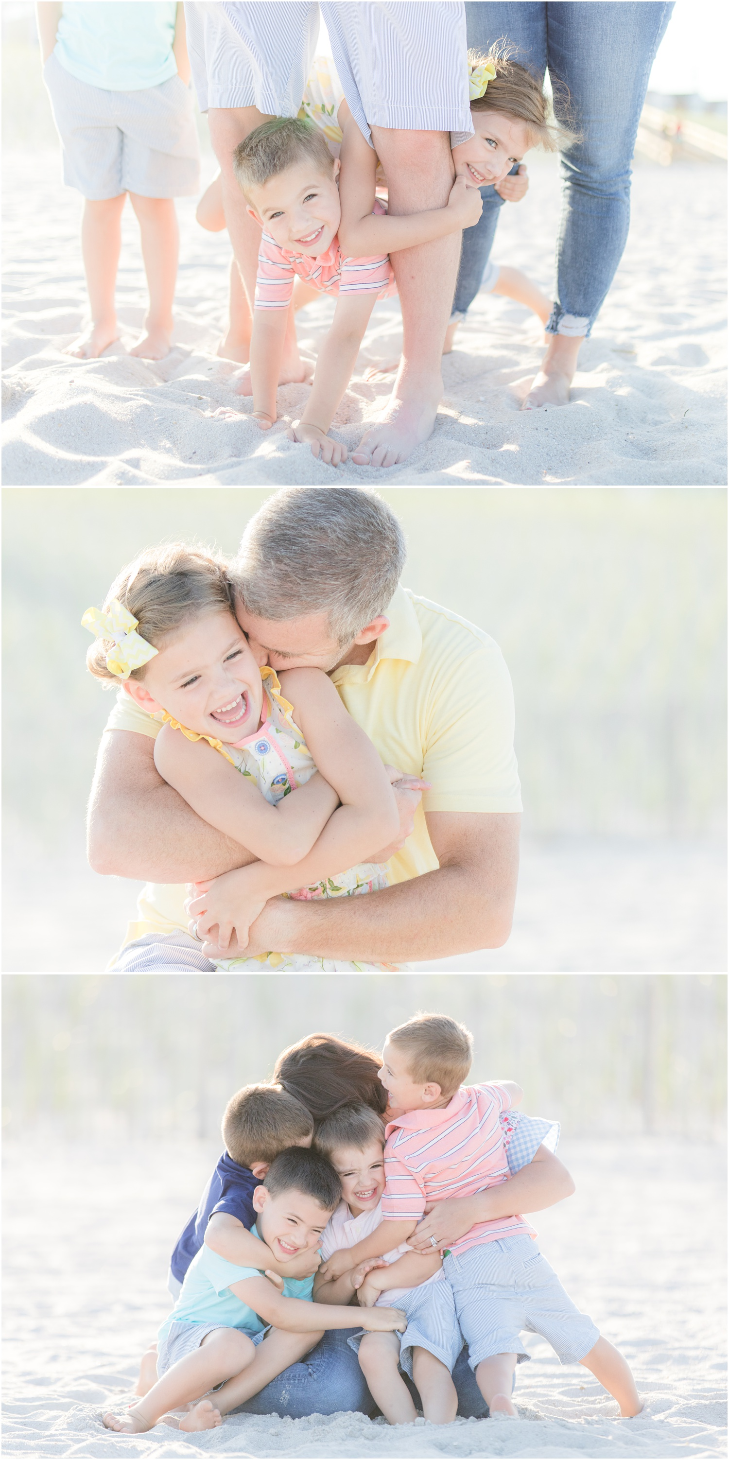 Natural family beach photos in Lavallette.