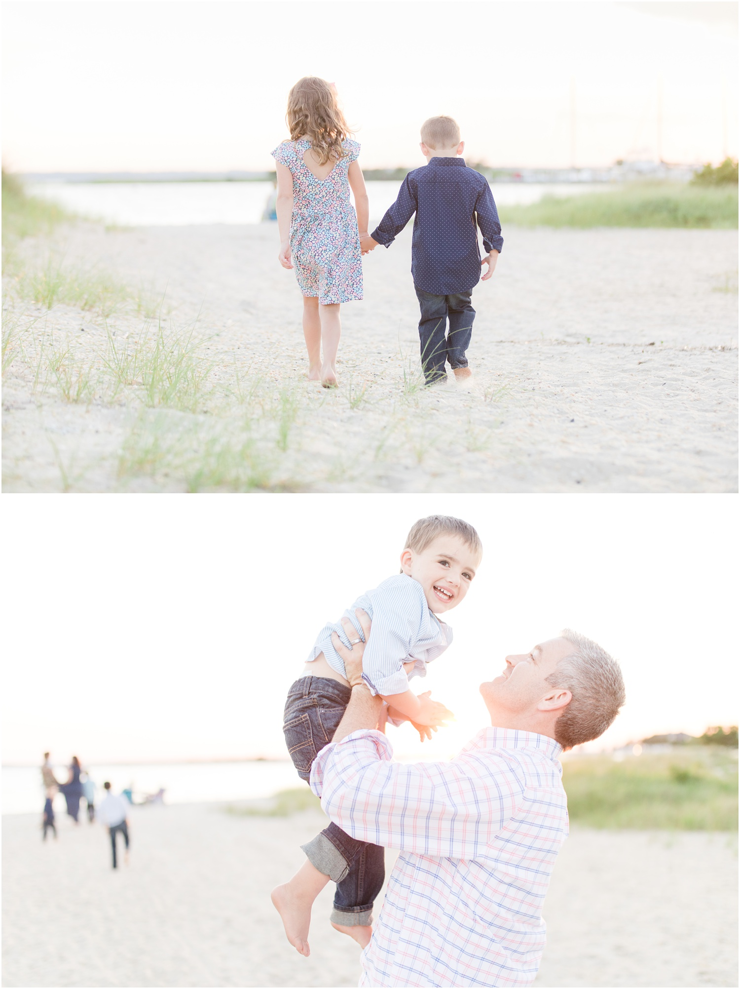 Family portraits at the bay beach in Lavallette.