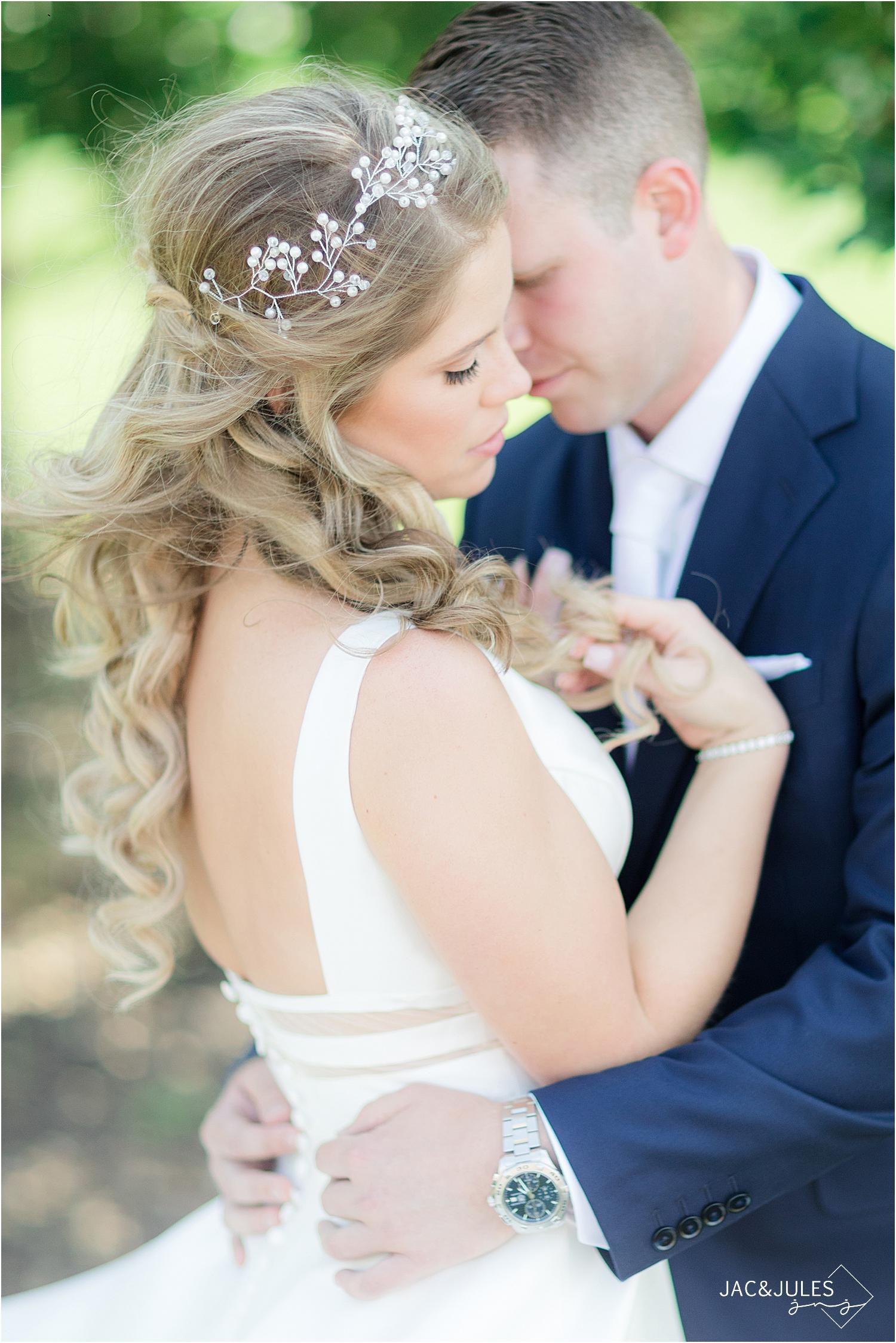 romantic wedding photo at north jersey wedding