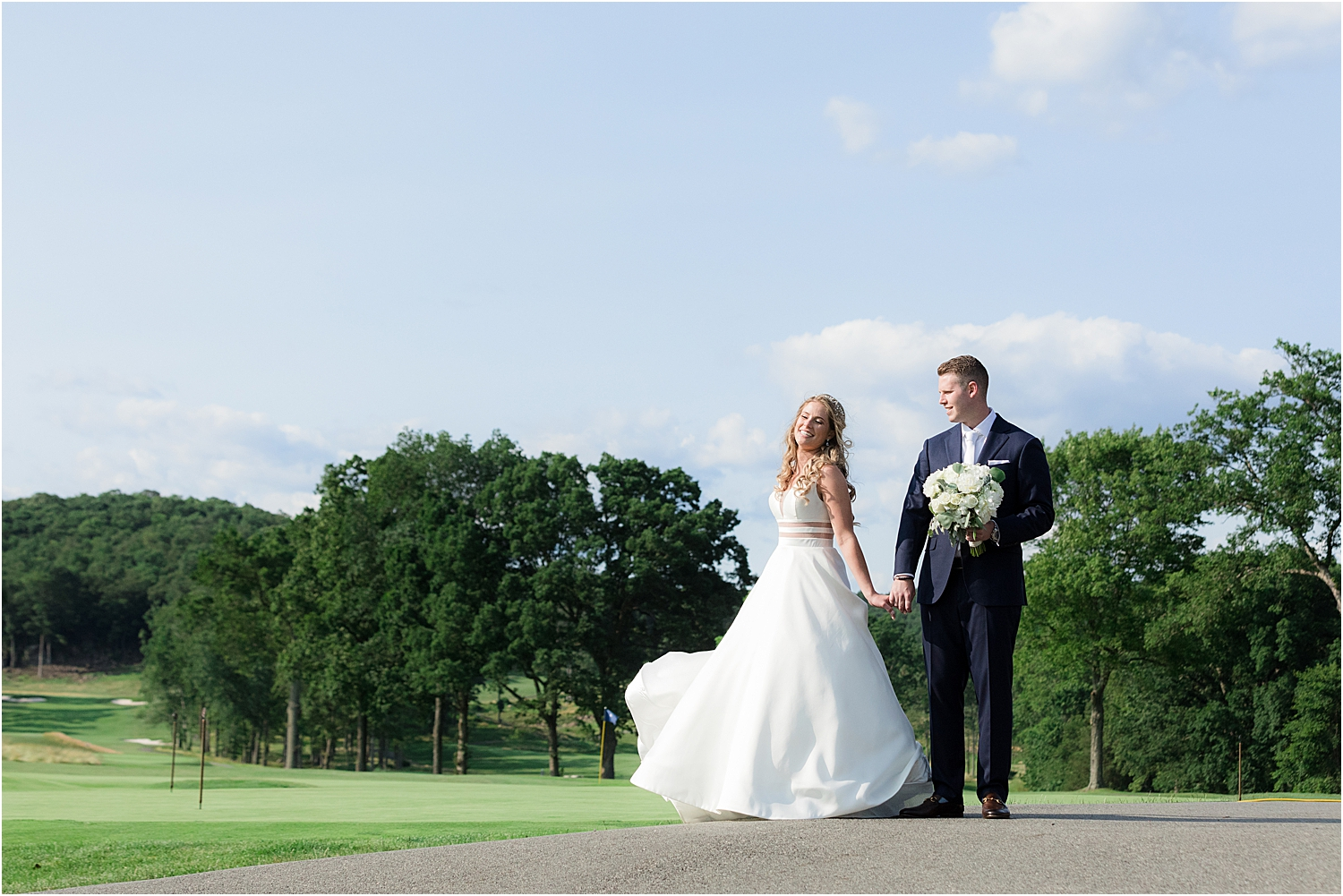 bride and groom wedding photo at north jersey country club