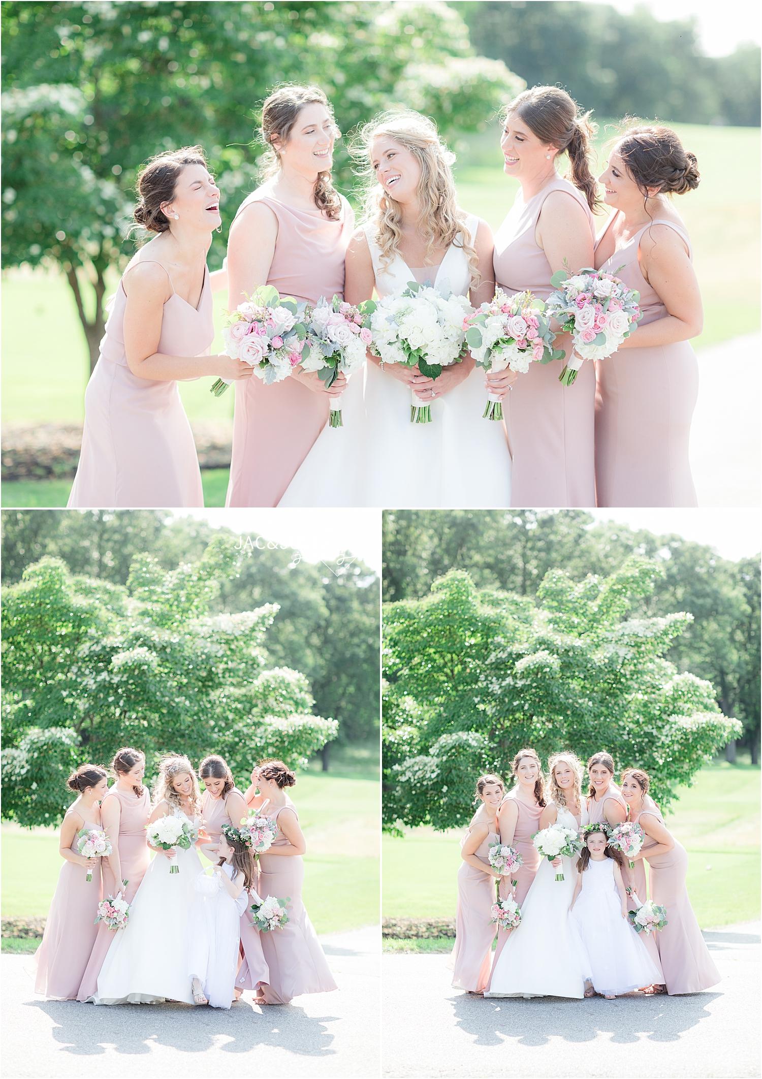 bridesmaid photo at north jersey country club wedding