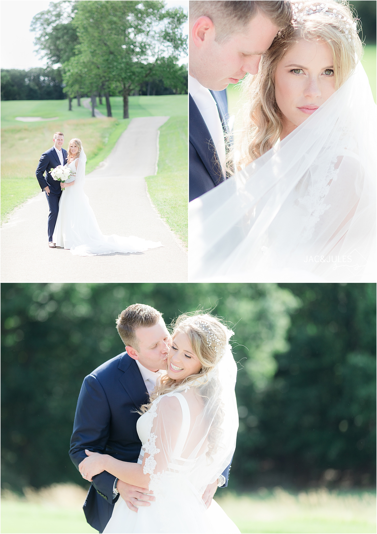 romantic wedding at north jersey country club