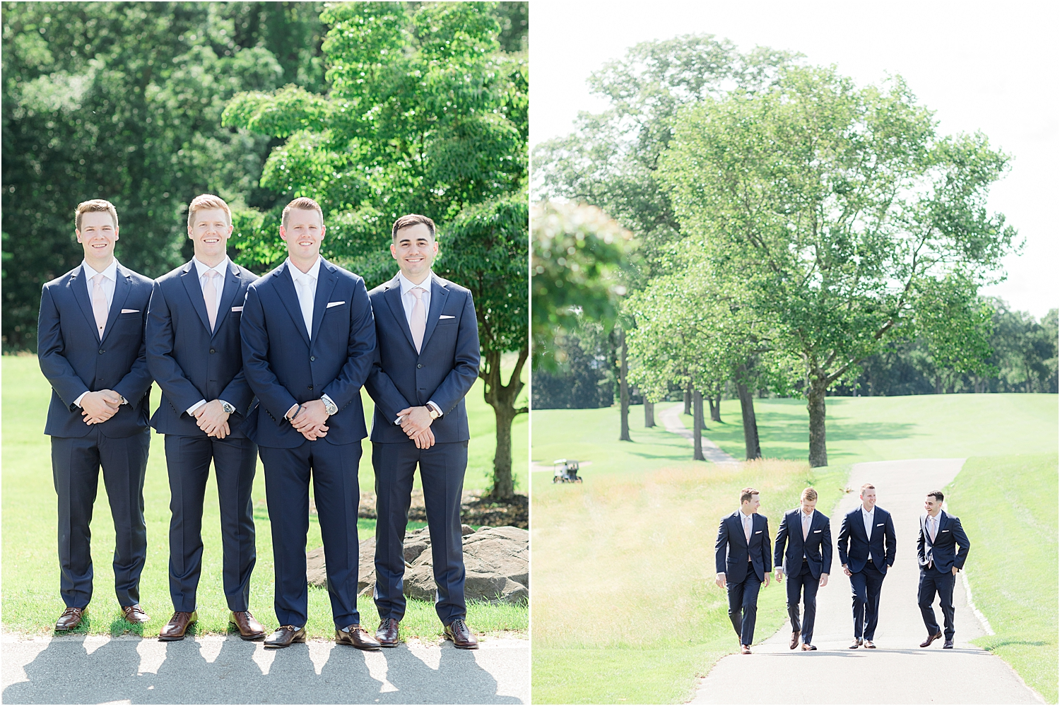 groomsman picture at north jersey country club wedding