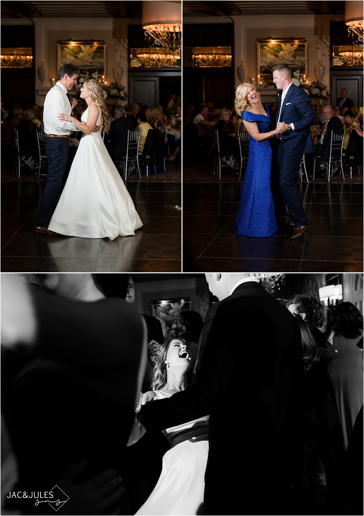parent dances at north jersey country club wedding