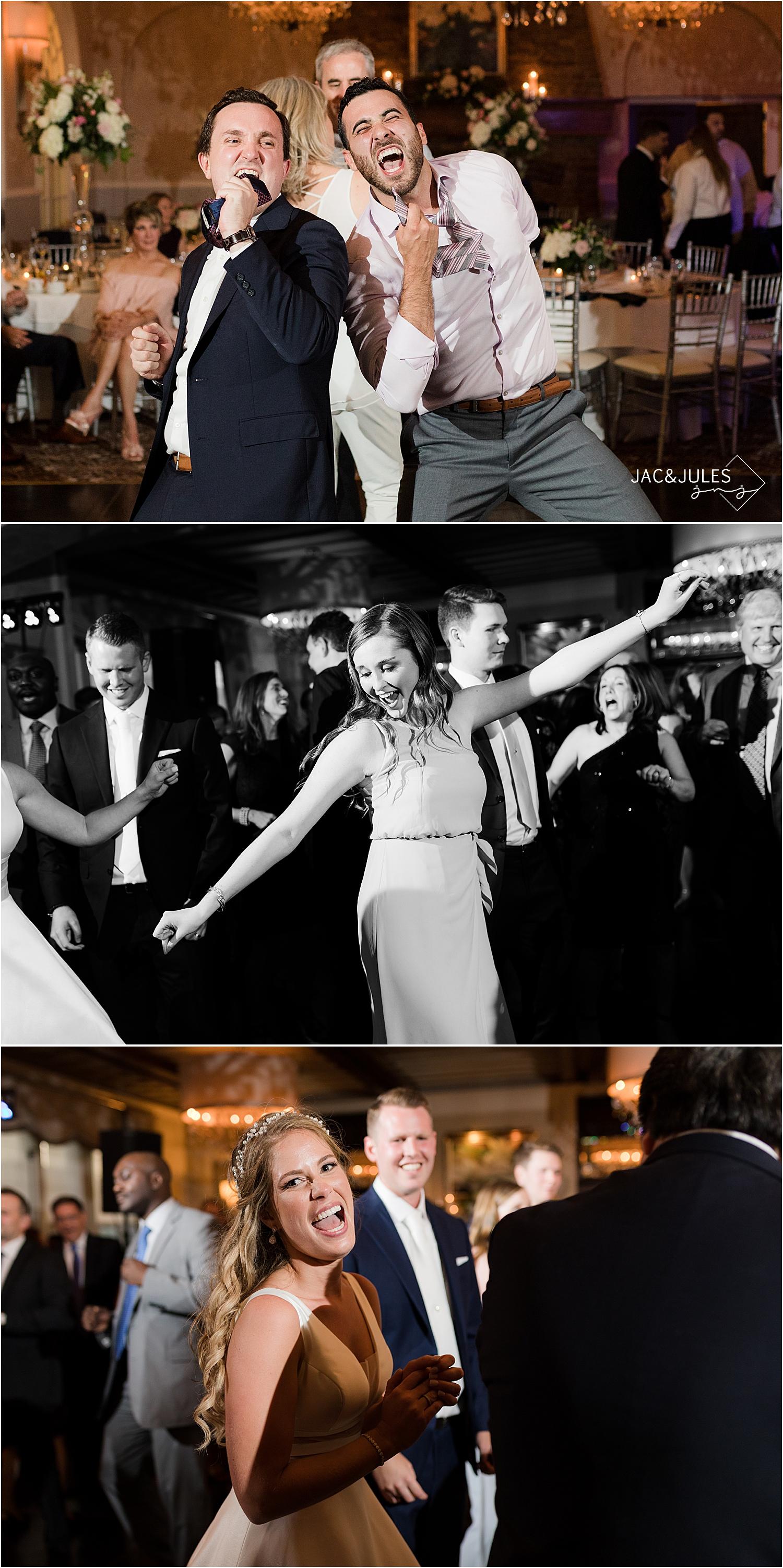 fun dancing at north jersey country club wedding