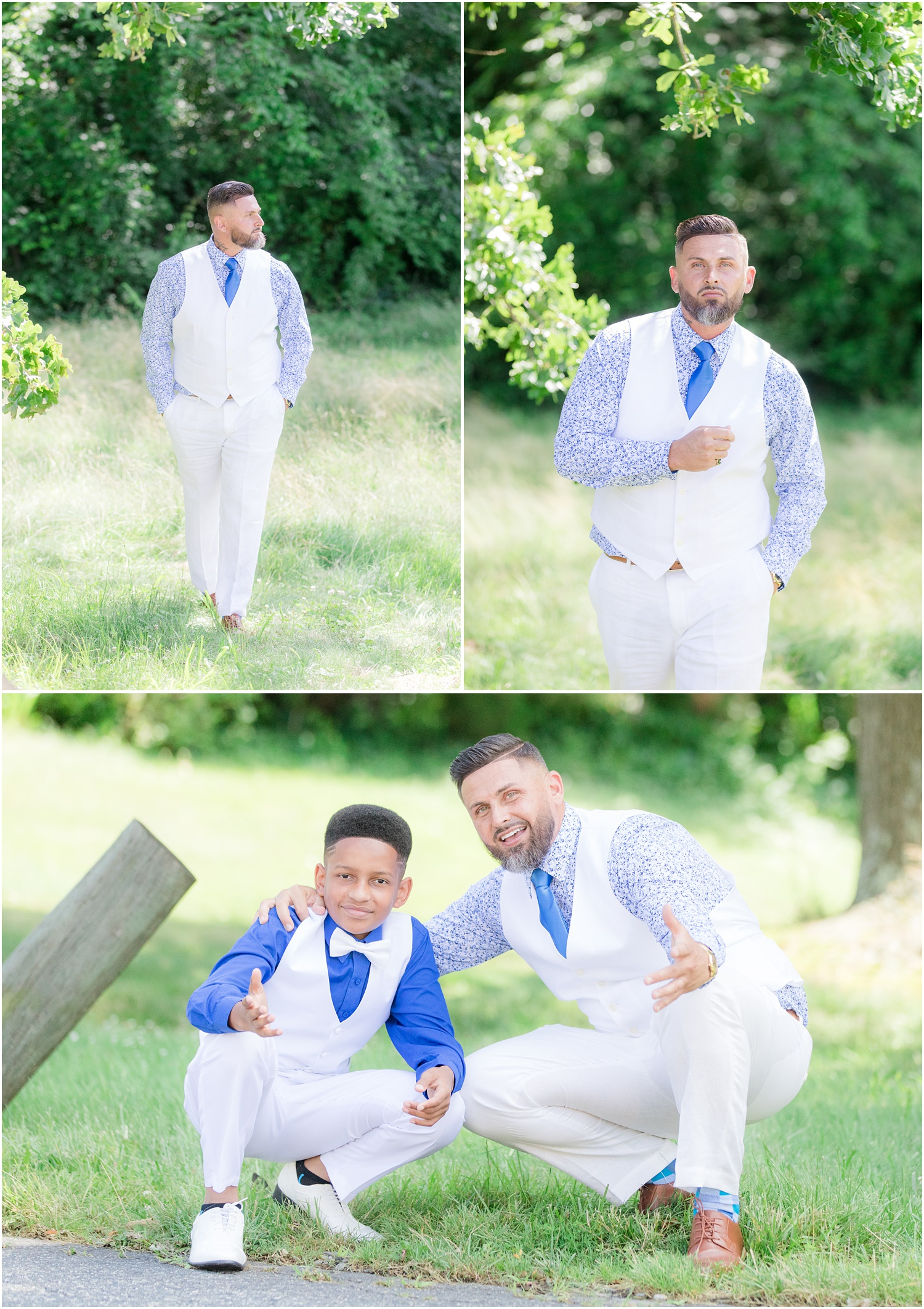 GQ Groom photos for a wedding in Chesapeake City, MD.