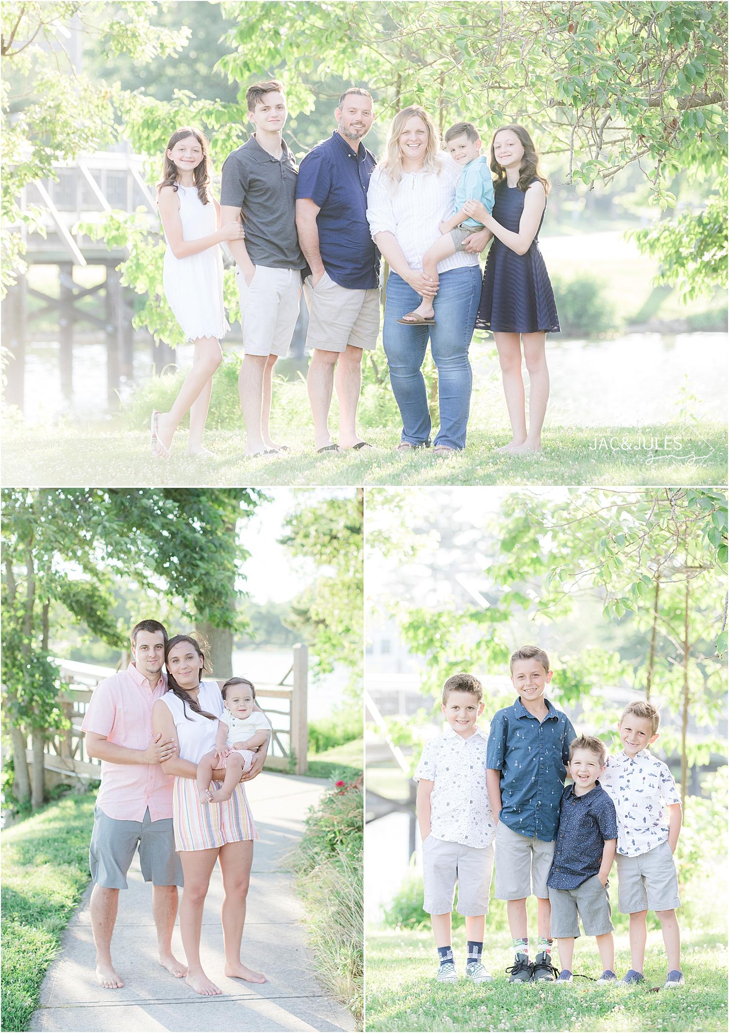 family portraits at divine park in spring lake nj