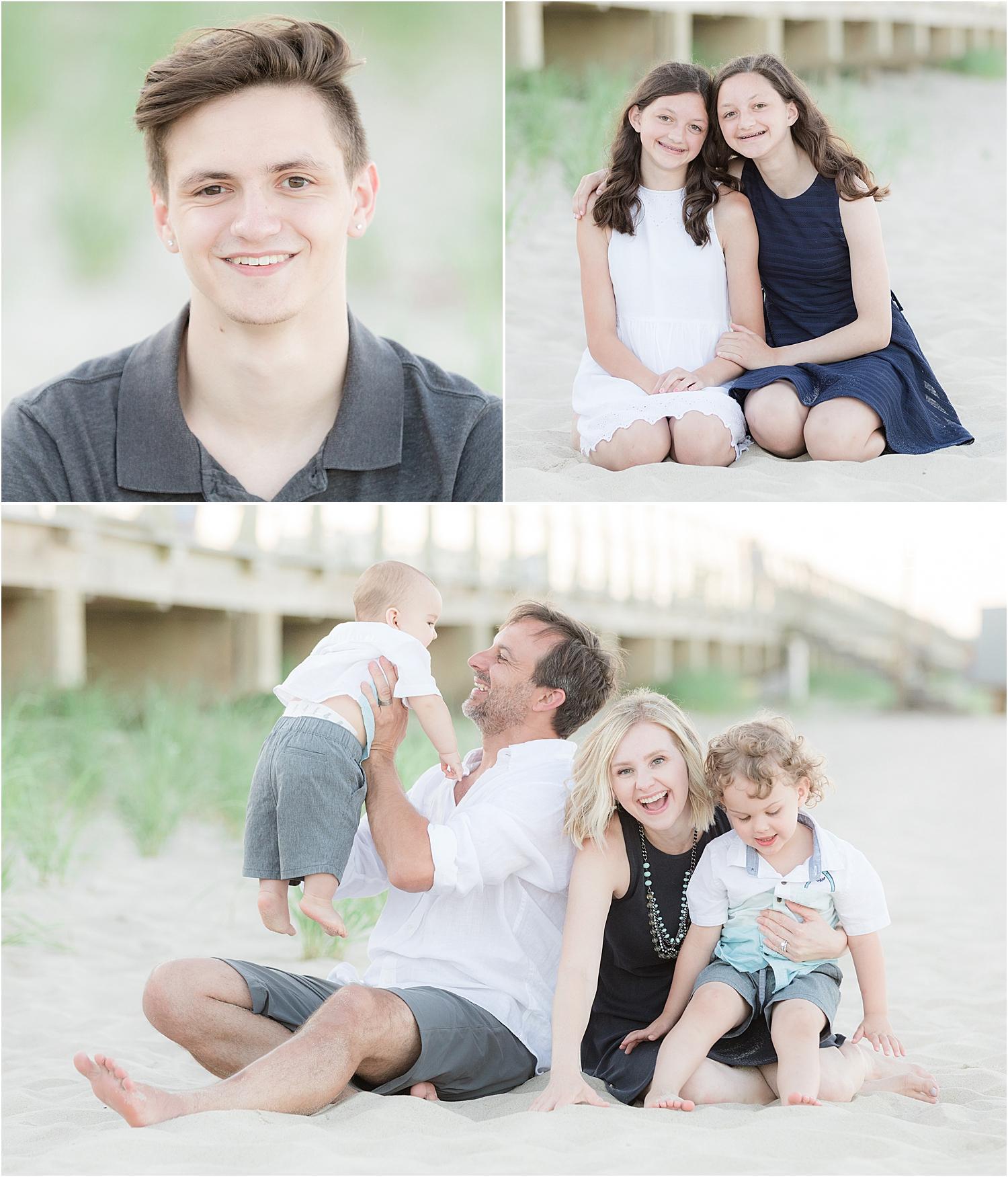 family beach portraits in Spring Lake NJ
