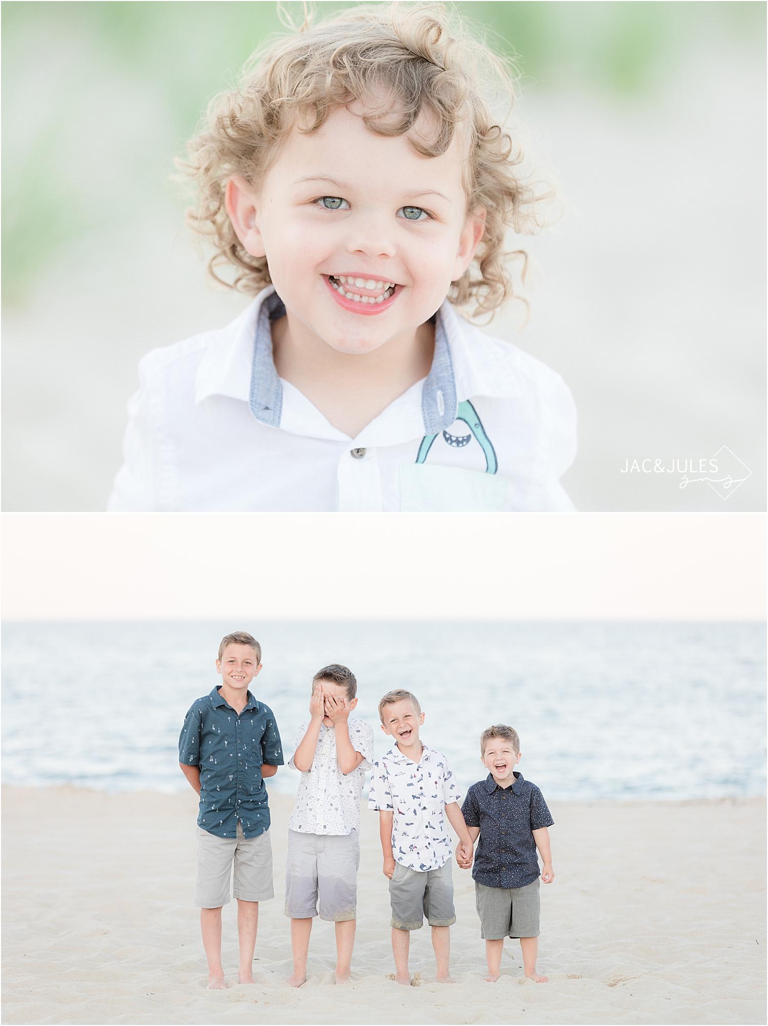 jersey shore beach portraits of kids