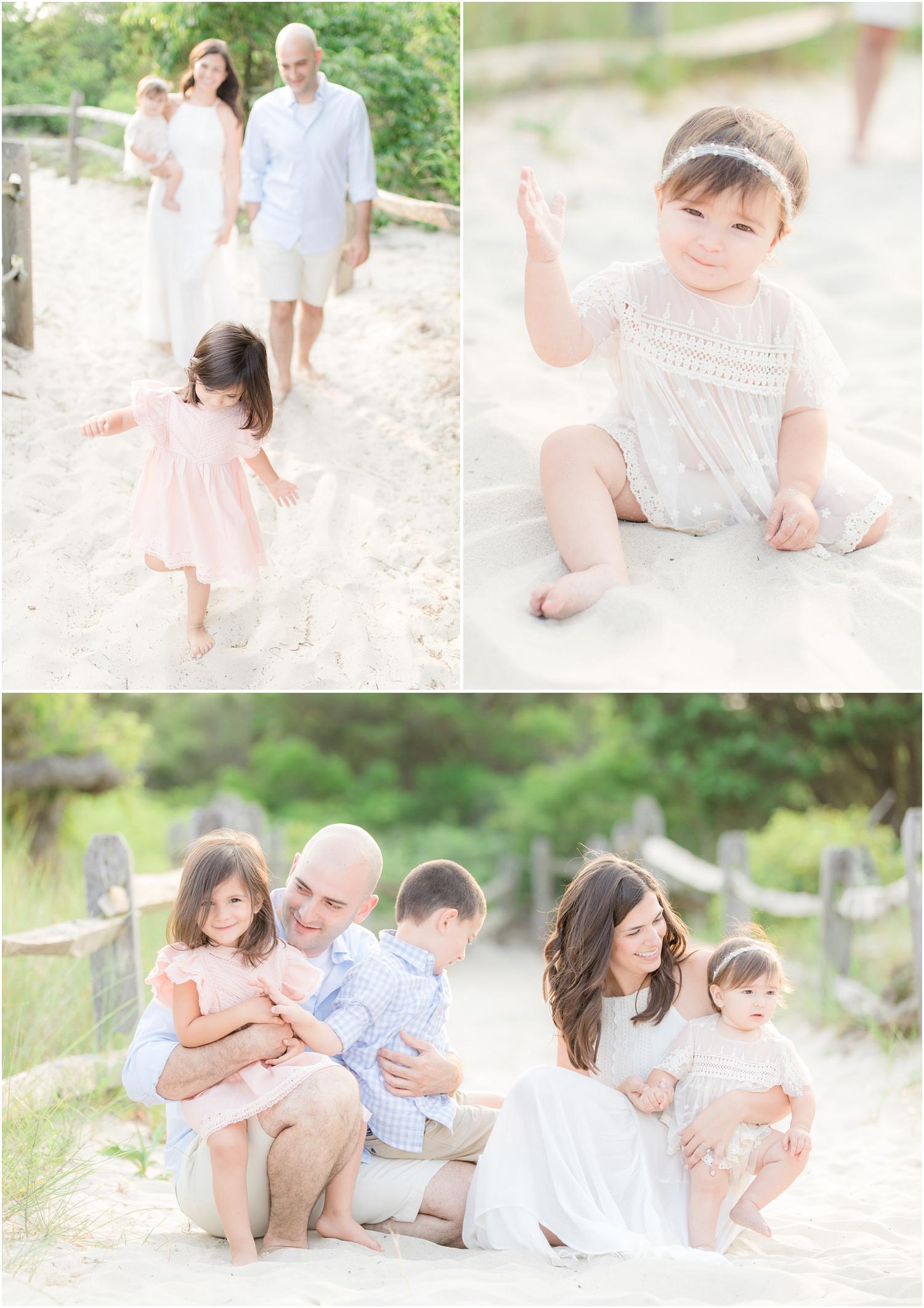 casual family beach photos in Seaside Park.