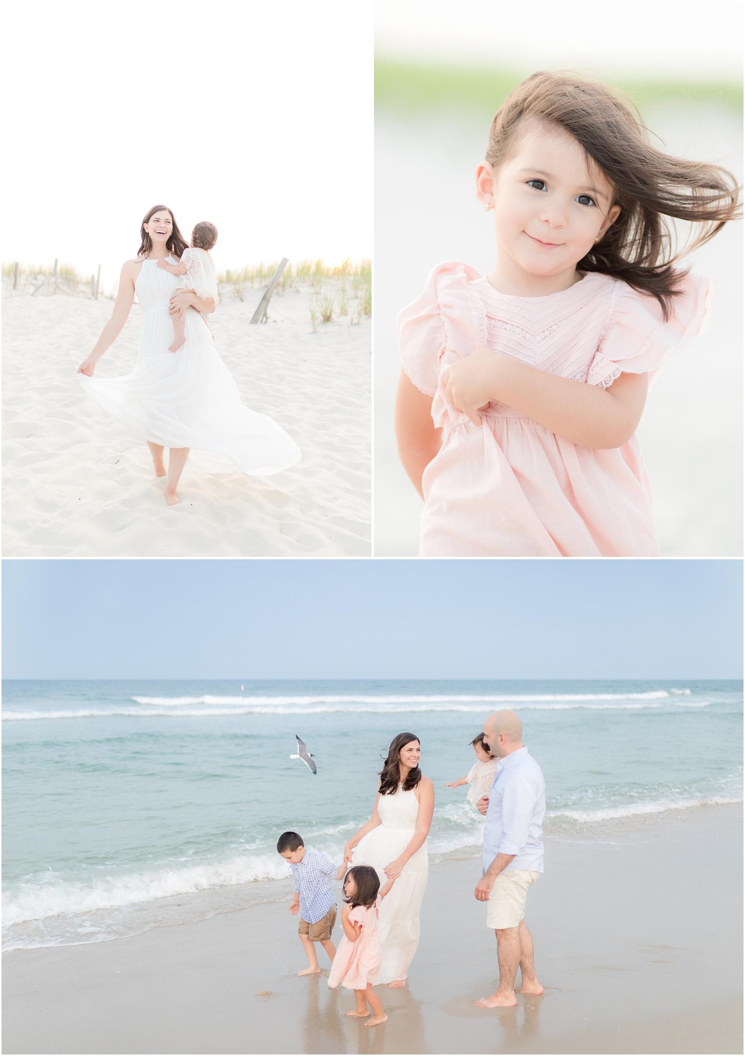 playful family beach photos in Seaside Park.