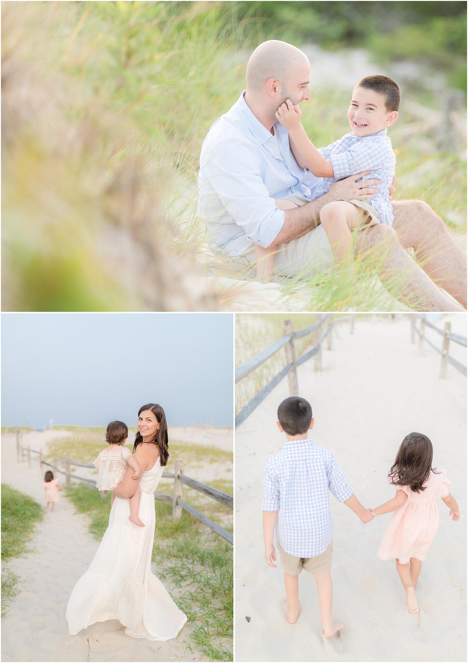 fun family beach photos in Seaside Park.