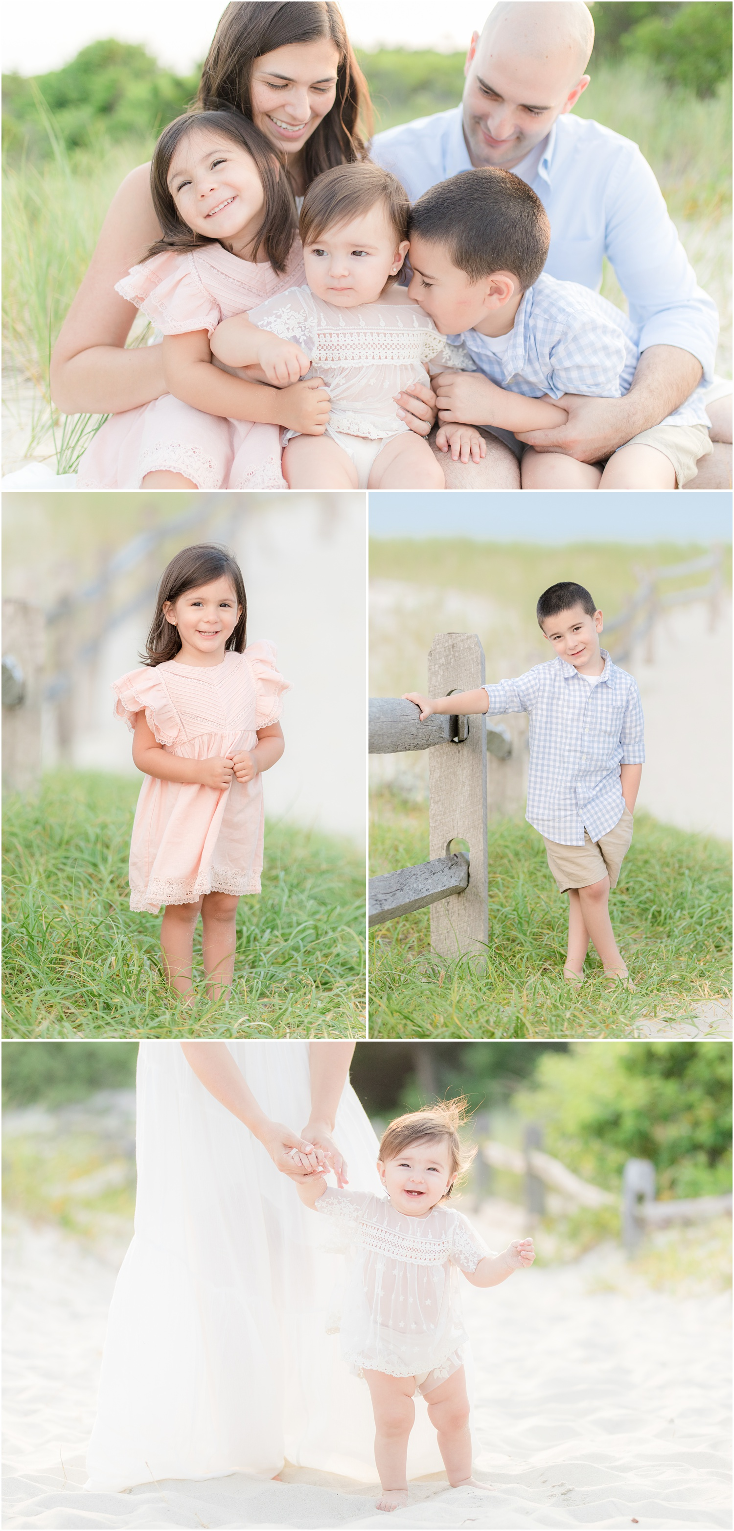 light and airy family beach portraits in Seaside Park.
