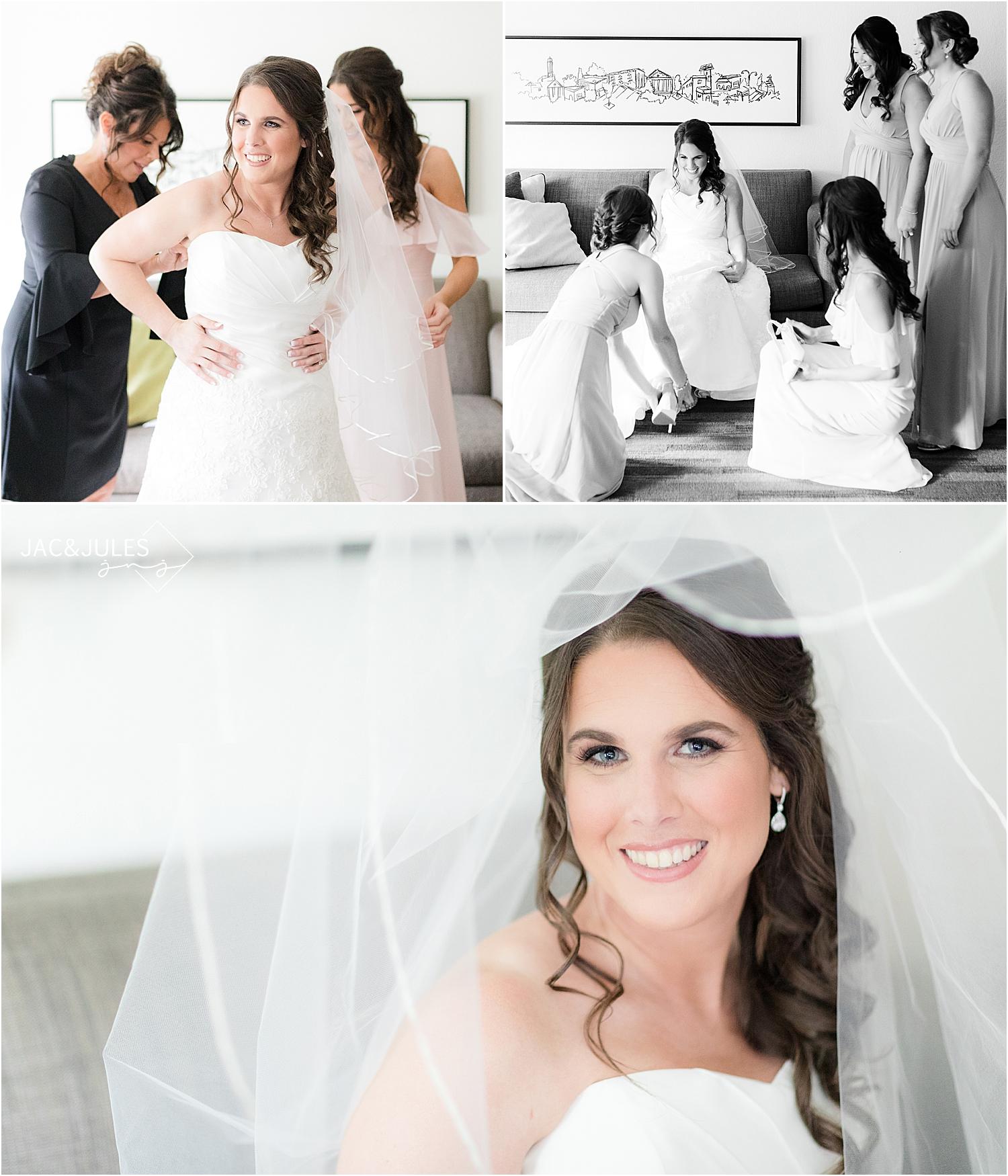 beautiful bridal portrait in natural light
