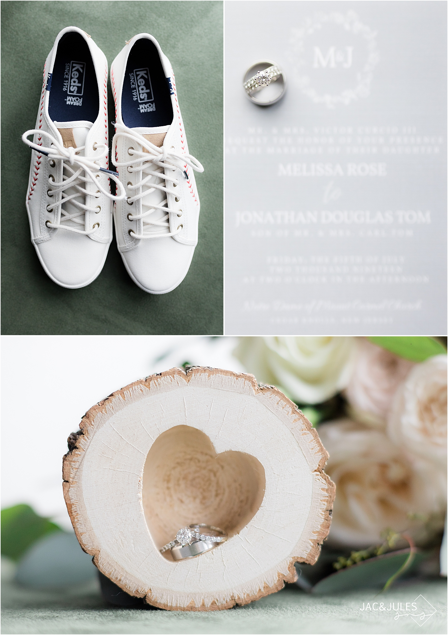 baseball themed wedding shoes
