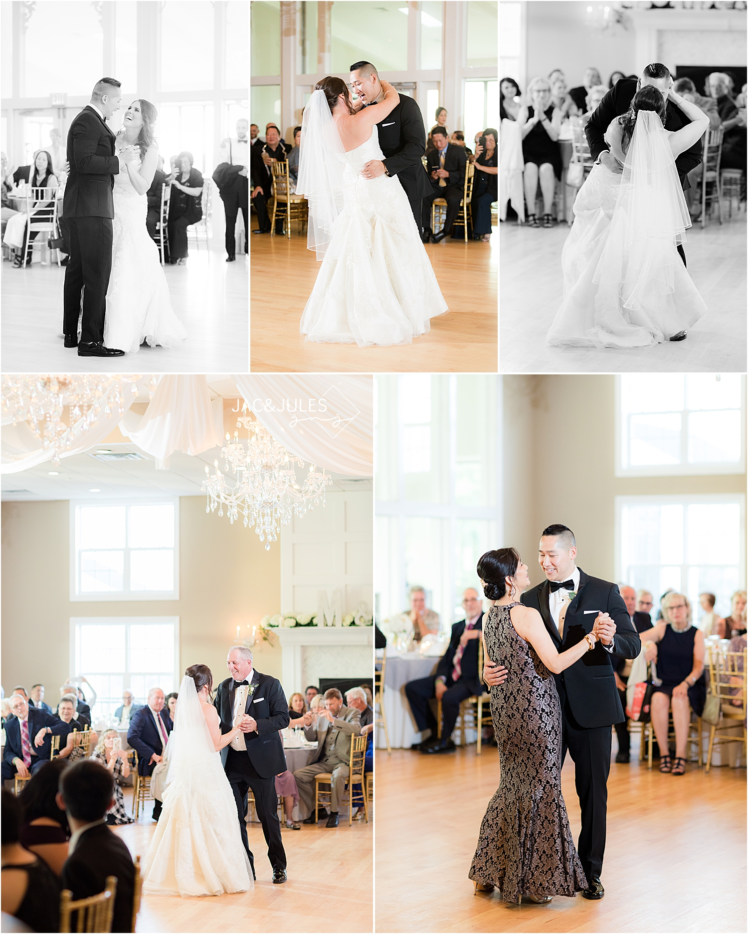 first dances at wedding reception at Skyview Golf Club
