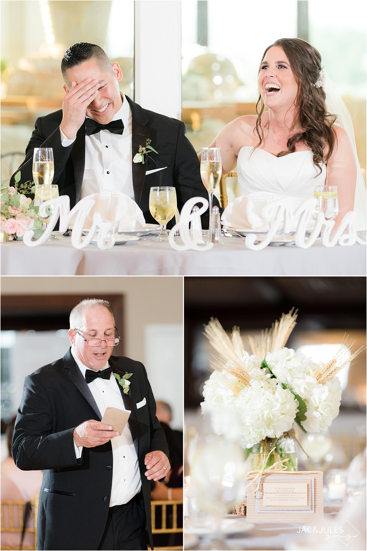 wedding toasts at Skyview Golf Club reception