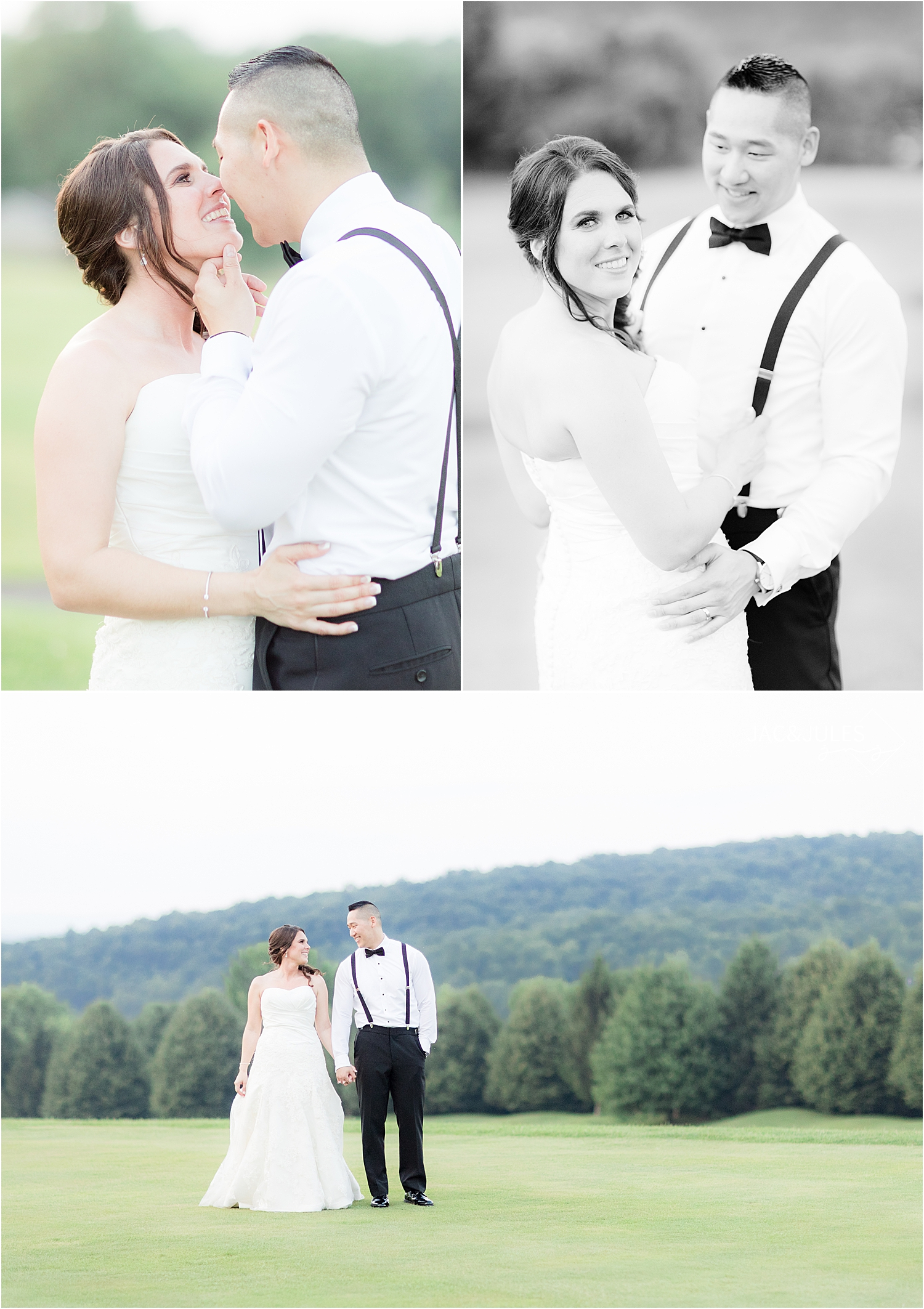 scenic mountain photo with bride and groom at Skyview Golf Club wedding
