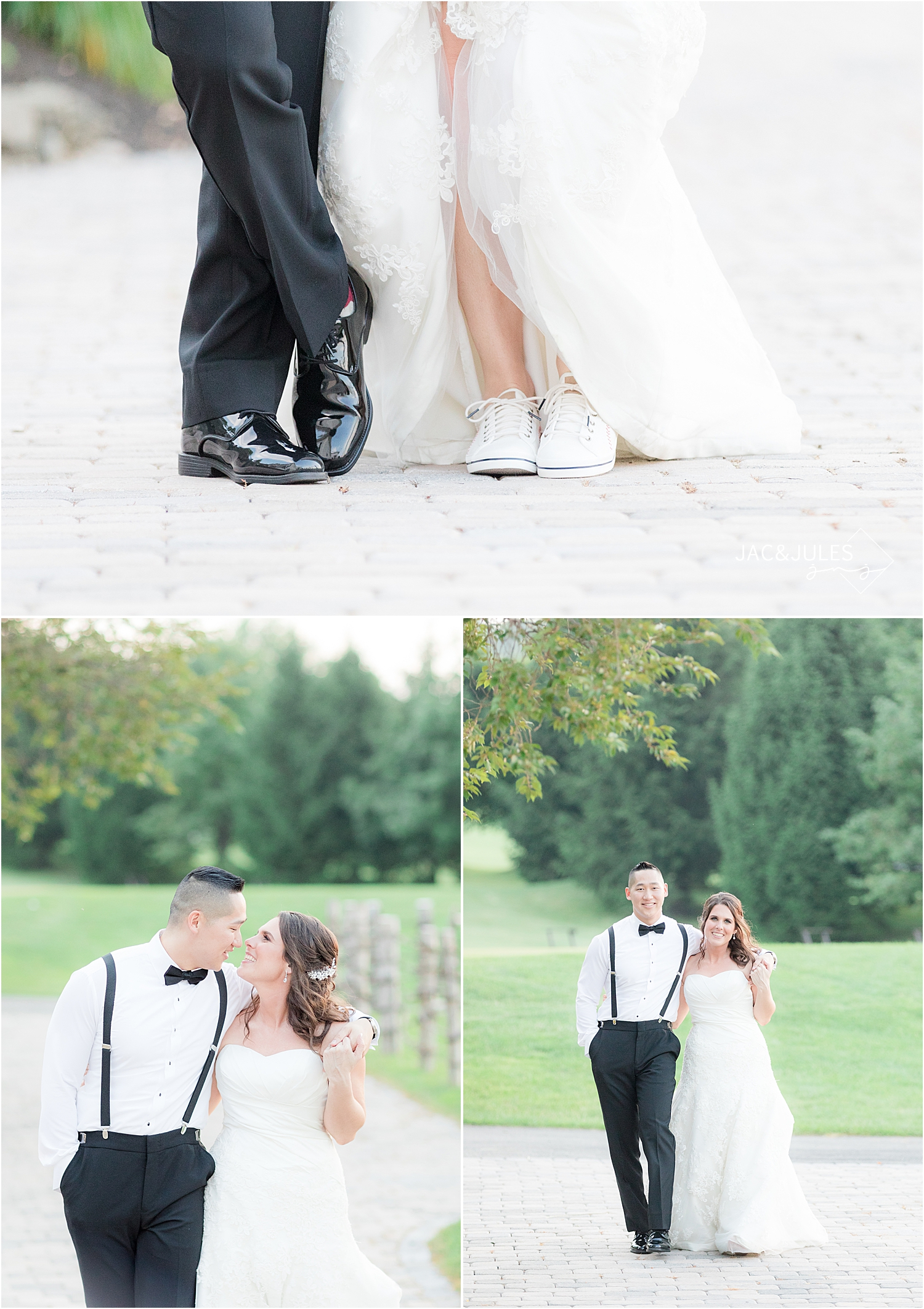 bride and groom pictures at sky view golf club wedding