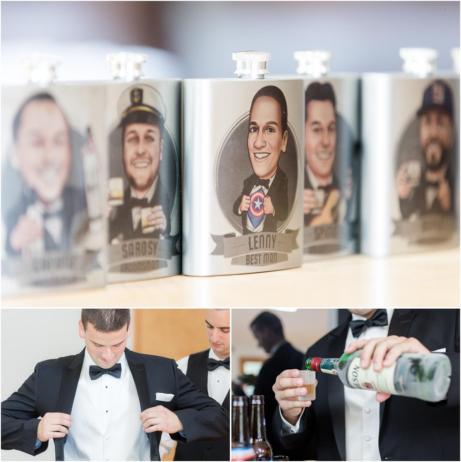 Personalized flasks groomsmen gift