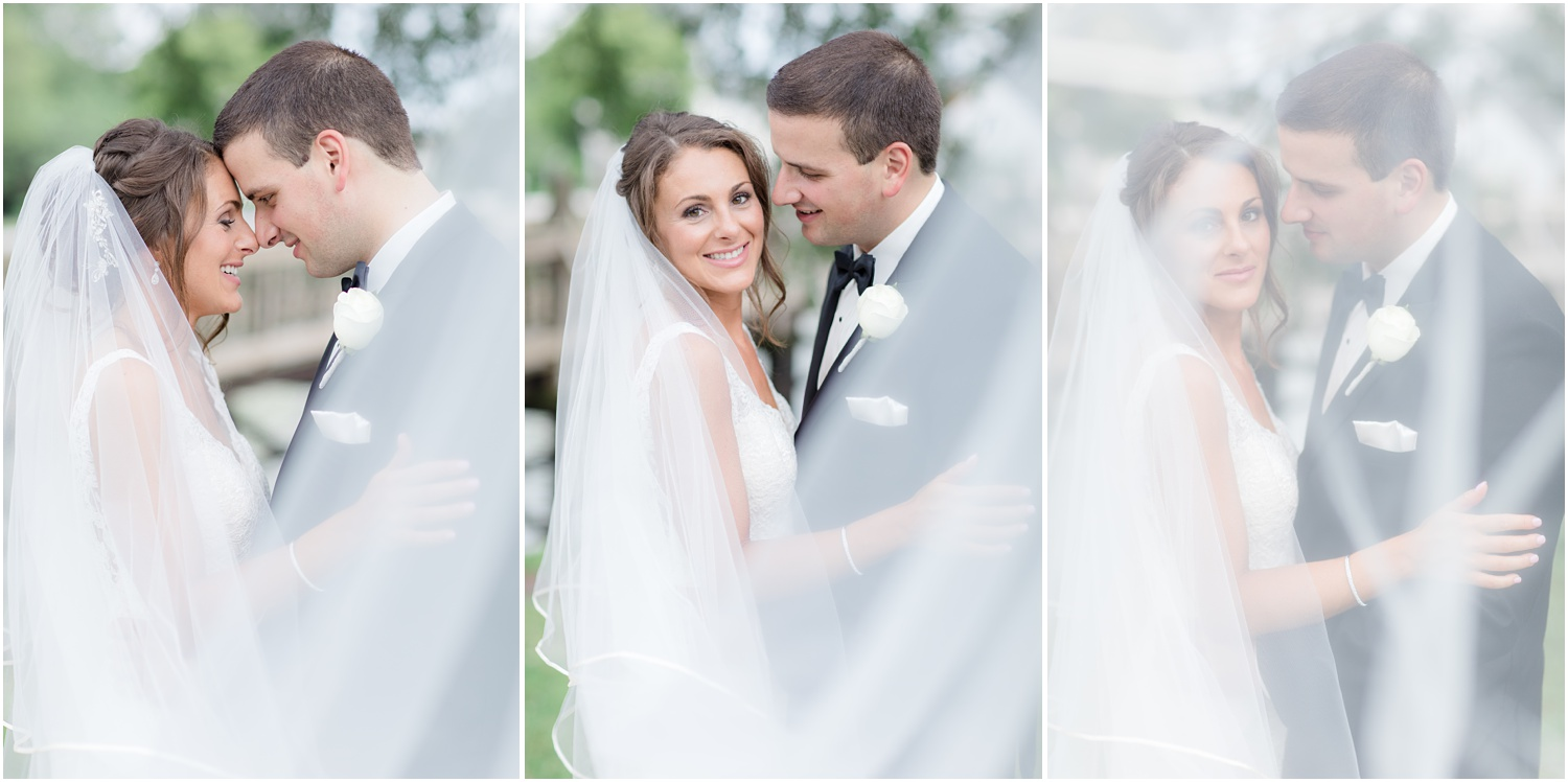 romantic just married photos at Divine Park in Spring Lake