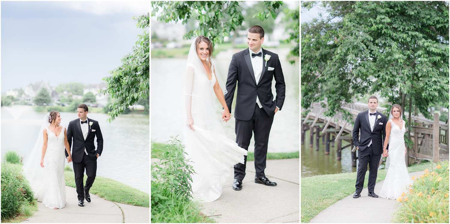 Modern wedding photography at Divine Park in Spring Lake