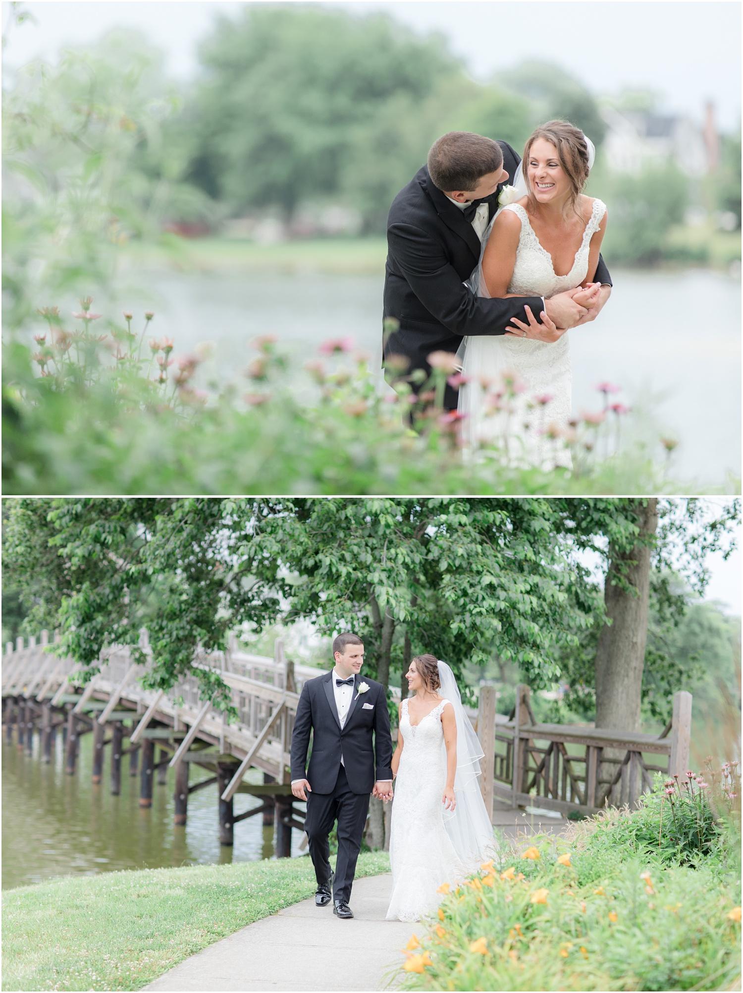 fun wedding photos at Divine Park in Spring Lake