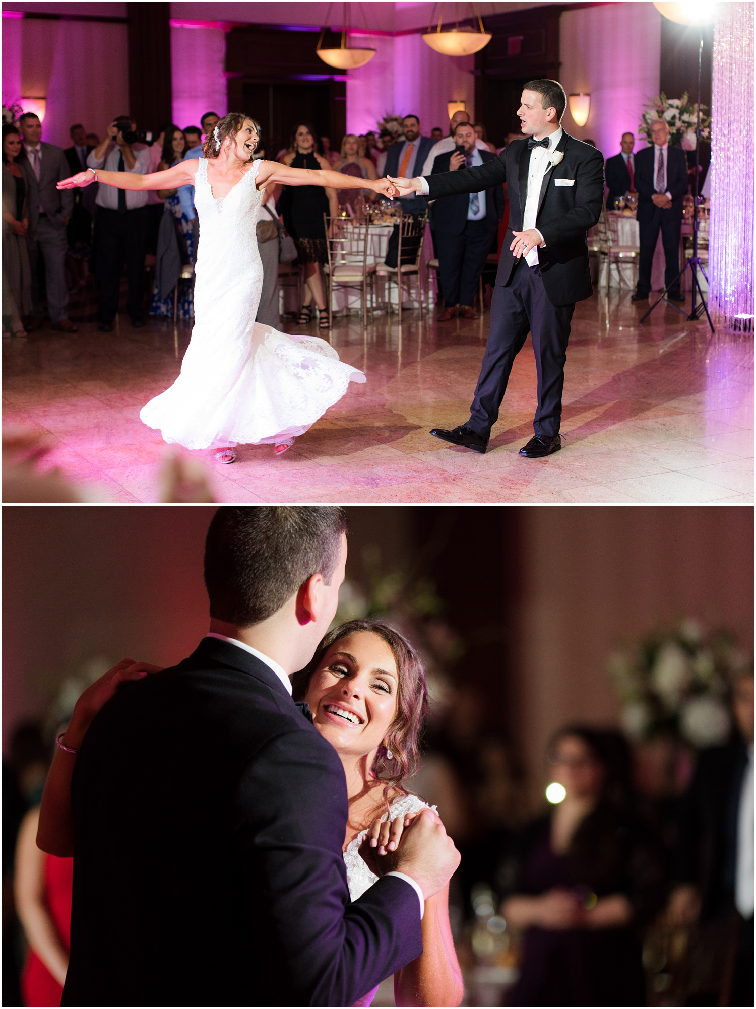 wedding reception first dance at South Gate Manor in Freehold.