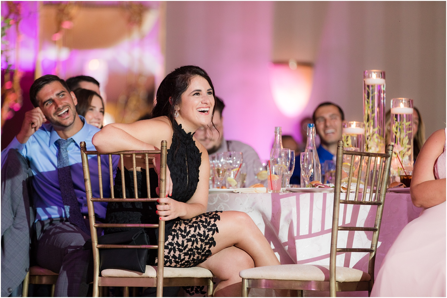 guest reactions to speeches at South Gate Manor in Freehold.