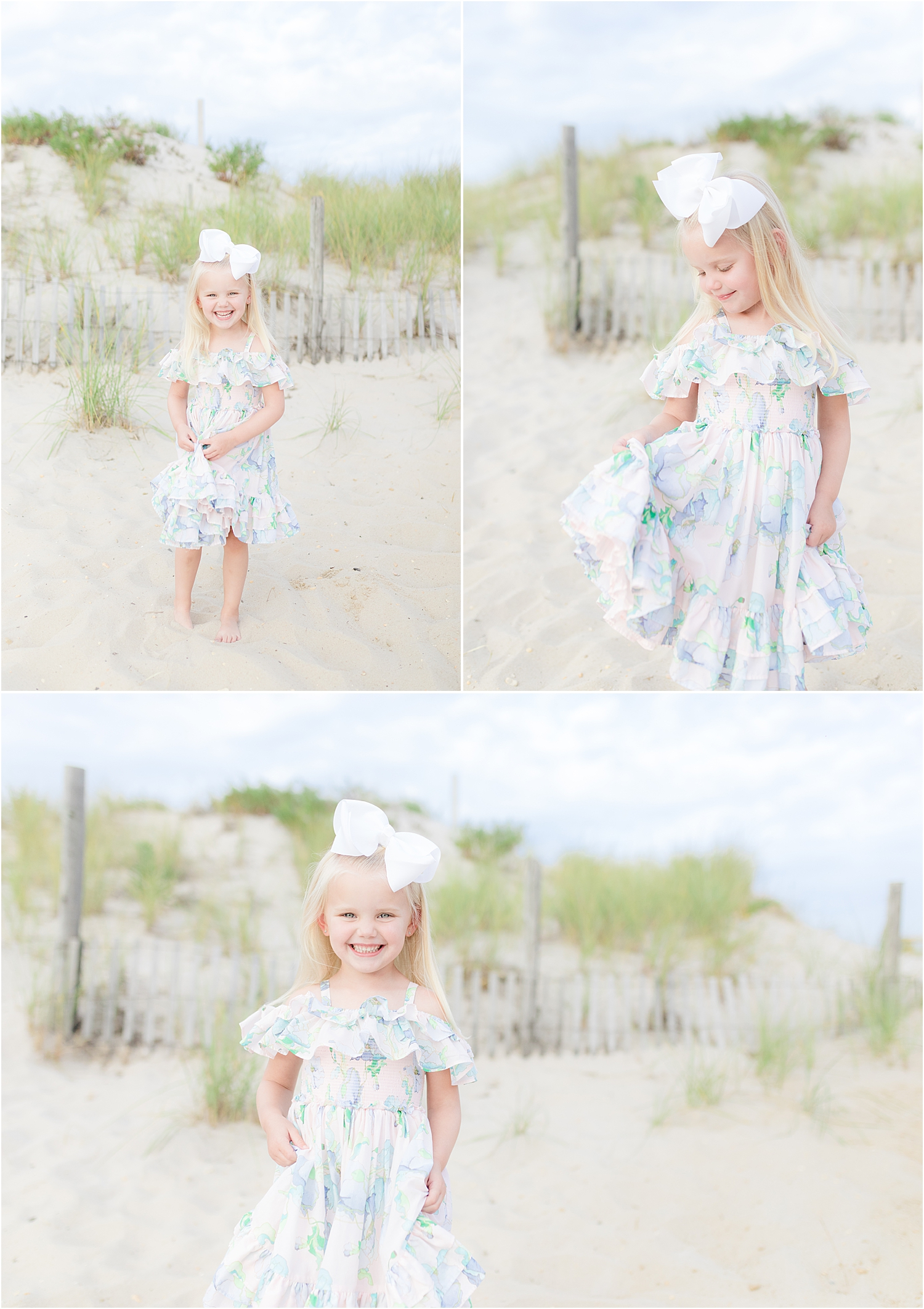 natural light photo of little girl on the beach in Lavallette