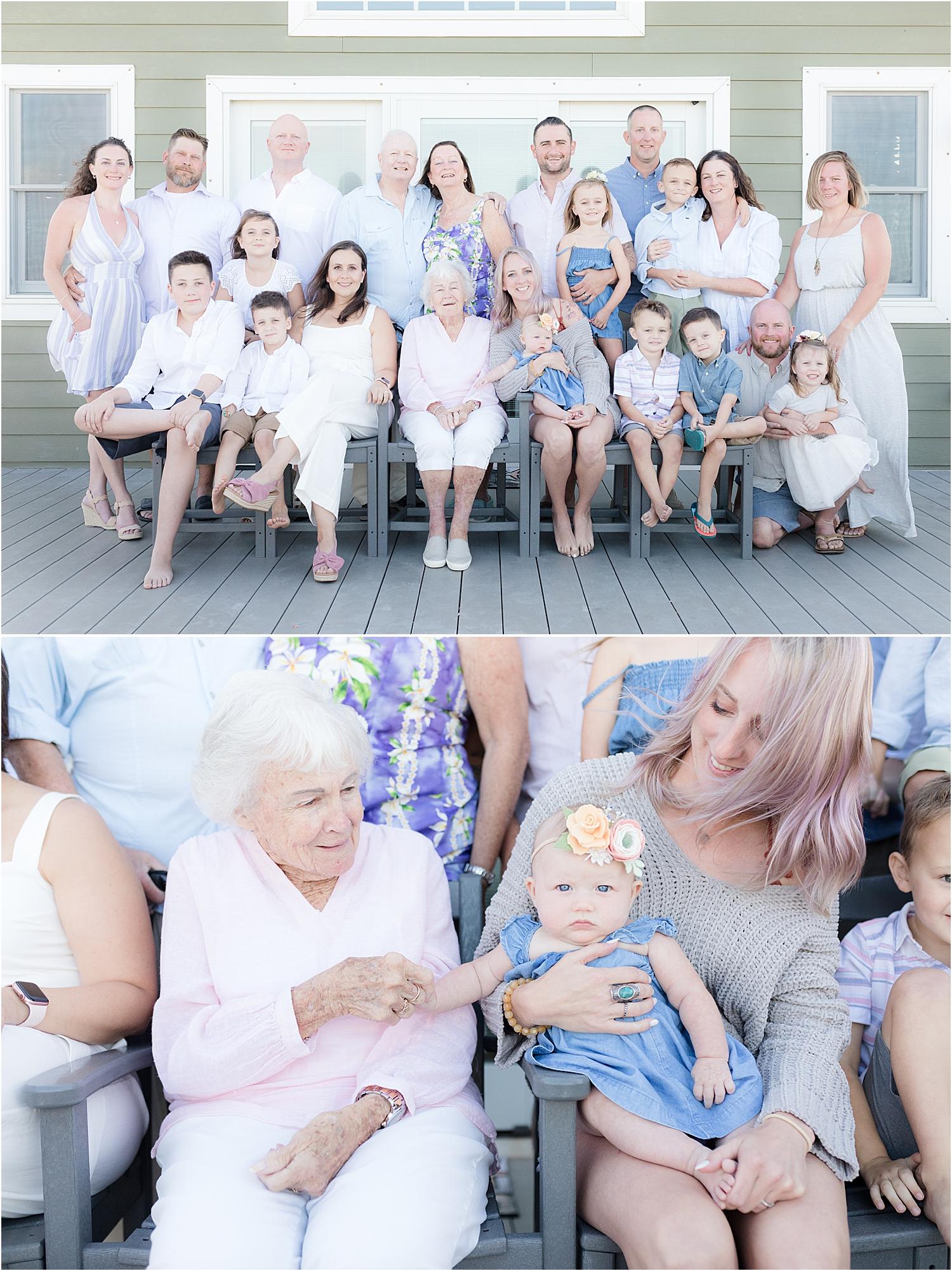extended family photo in lavallette NJ