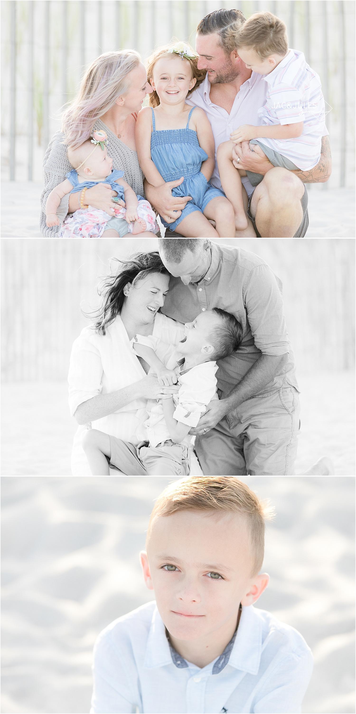 cute family photos on Lavallette Beach