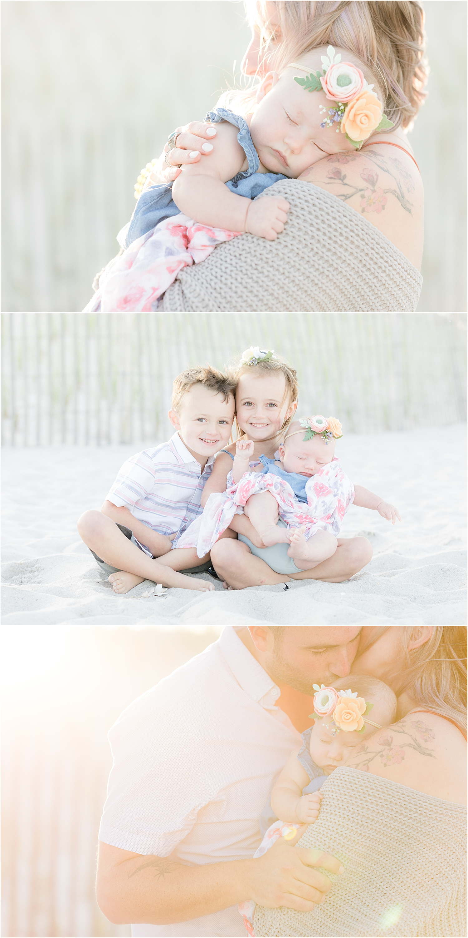 child and baby photos on the beach in Lavallette NJ