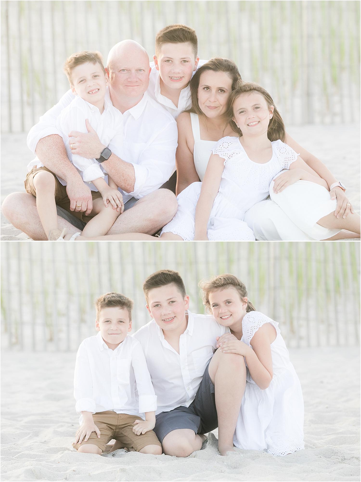 beautiful family photo in Lavallette NJ