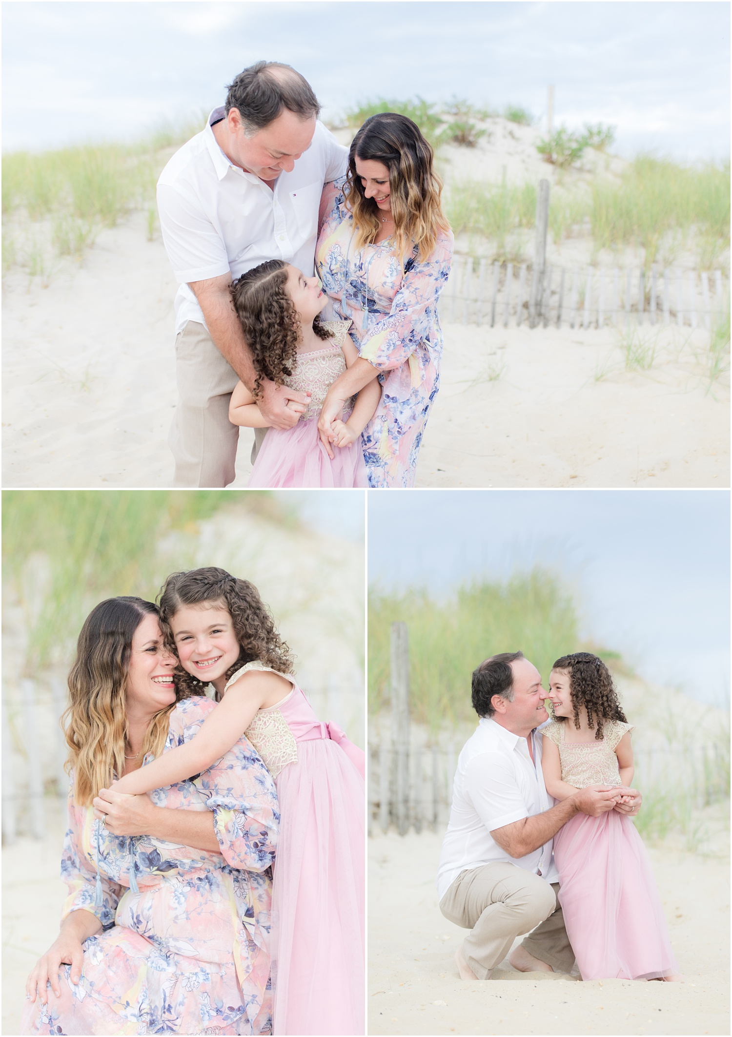 family and birthday photos on the beach in Lavallette, NJ.