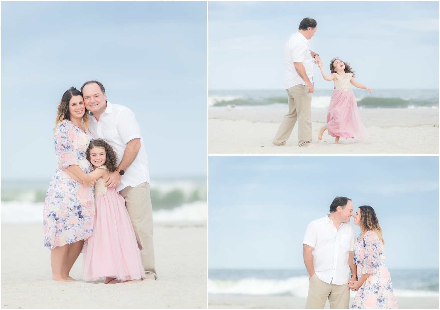 family photos on the beach in Lavallette, NJ.