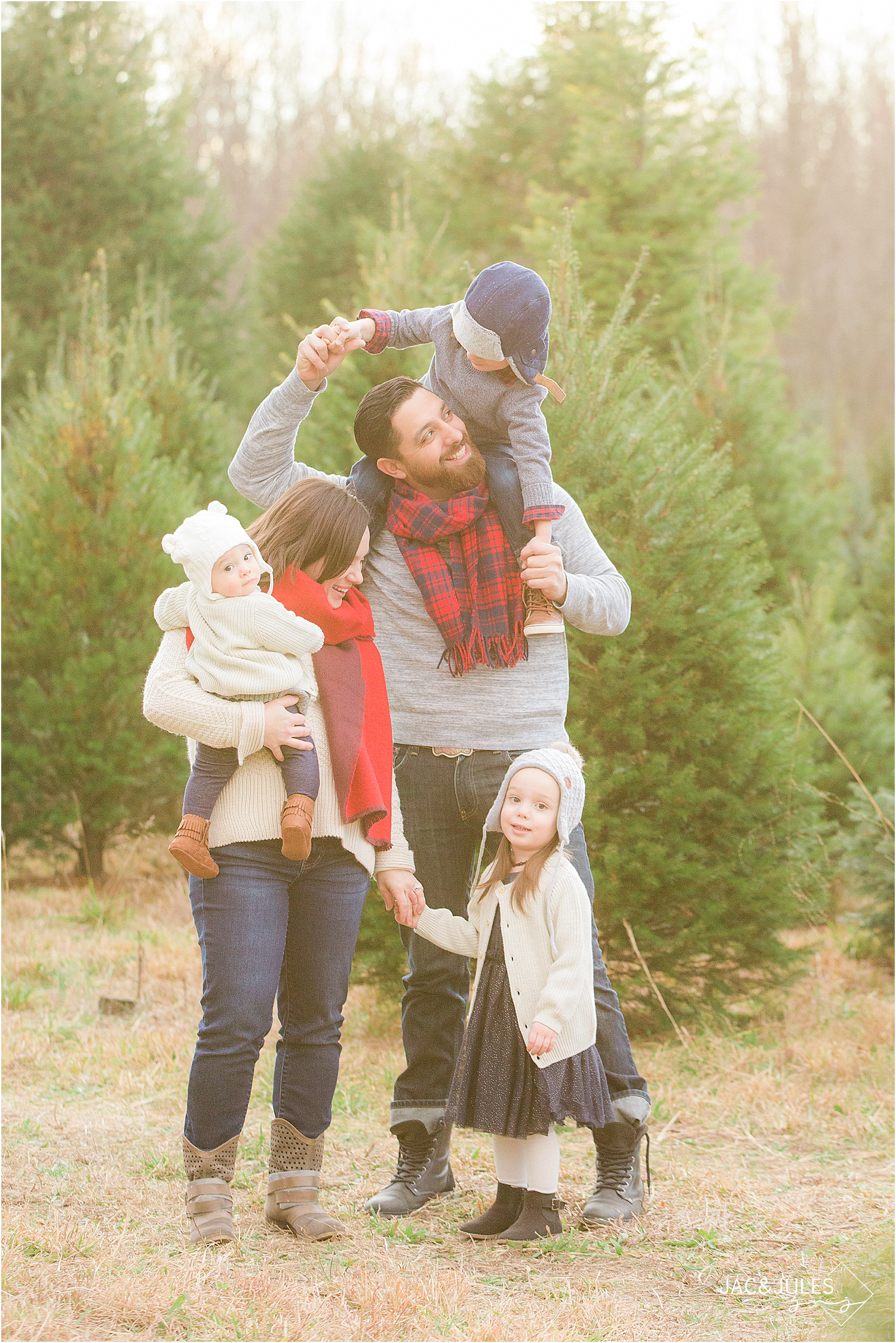 December 1 or 8 - A cozy session with warm apple cider, sweaters and blankets at a tree farm in New Egypt.15 min session includes 5 digital images for $350