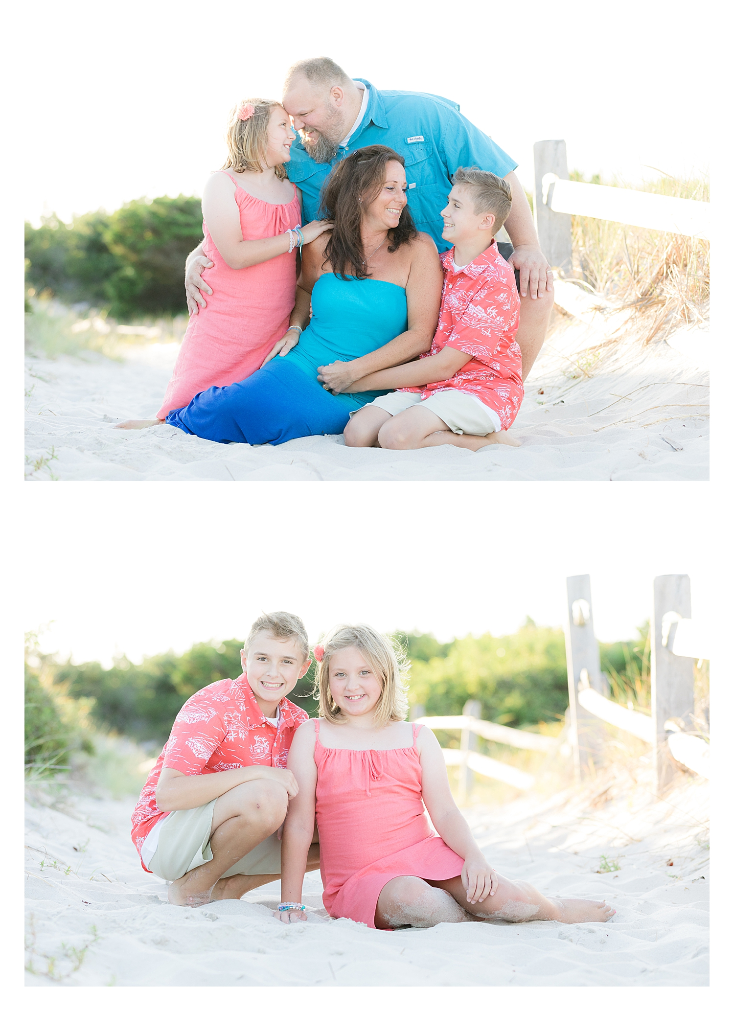 candid family photo at island beach state park