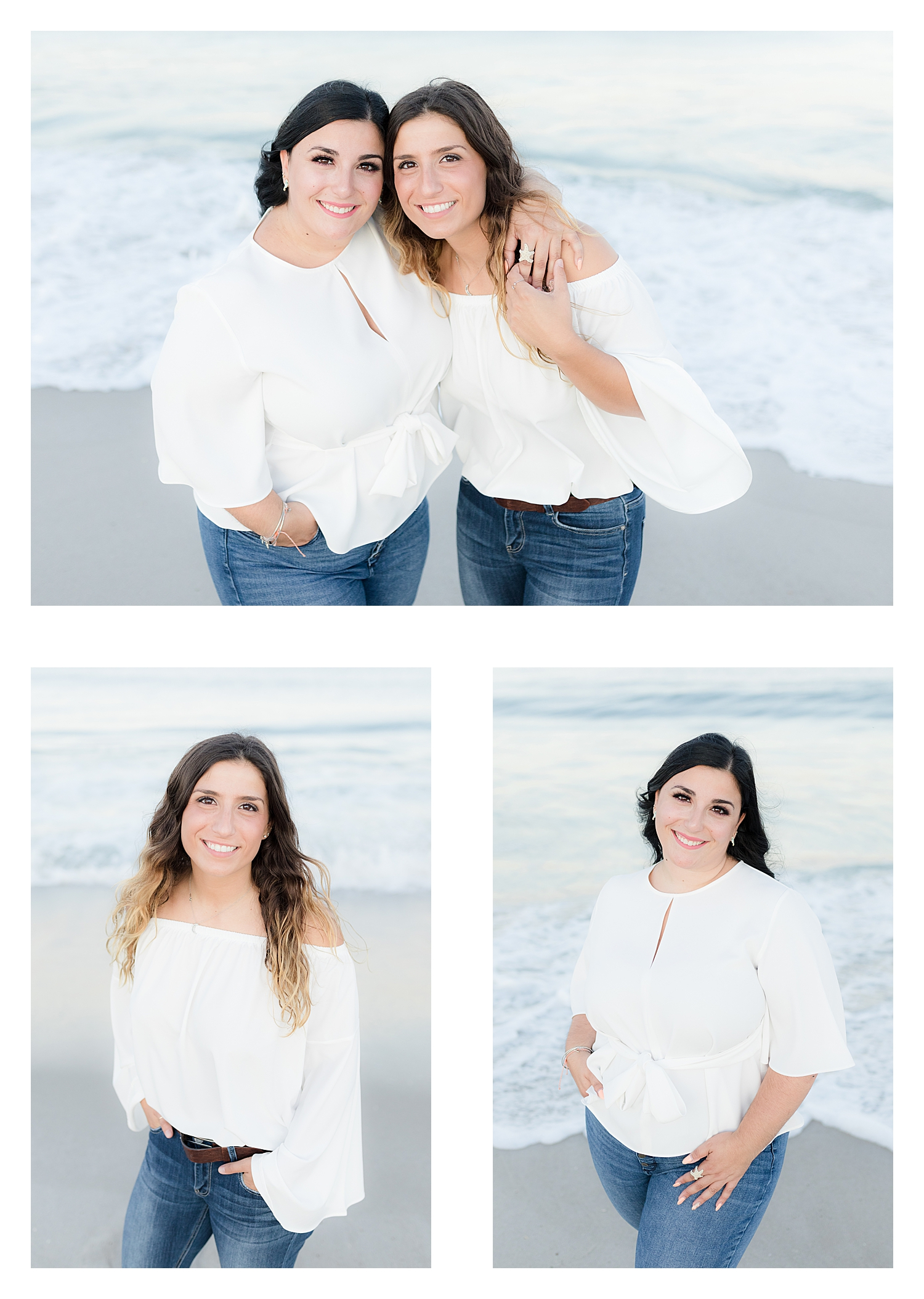sister photo on the beach in NJ in natural light