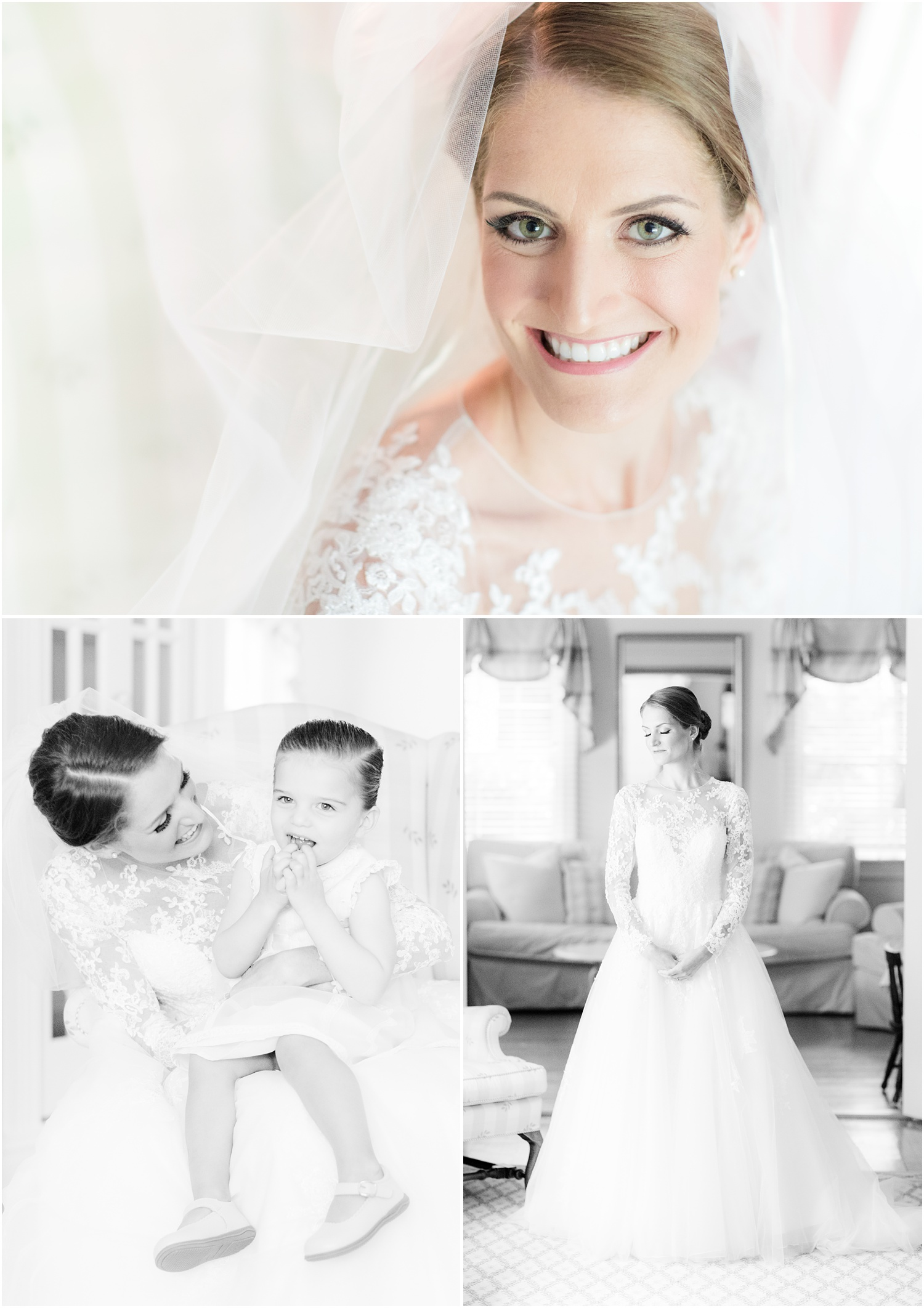 Copy of Traditional bridal portrait at bride's home in Short Hills, NJ.