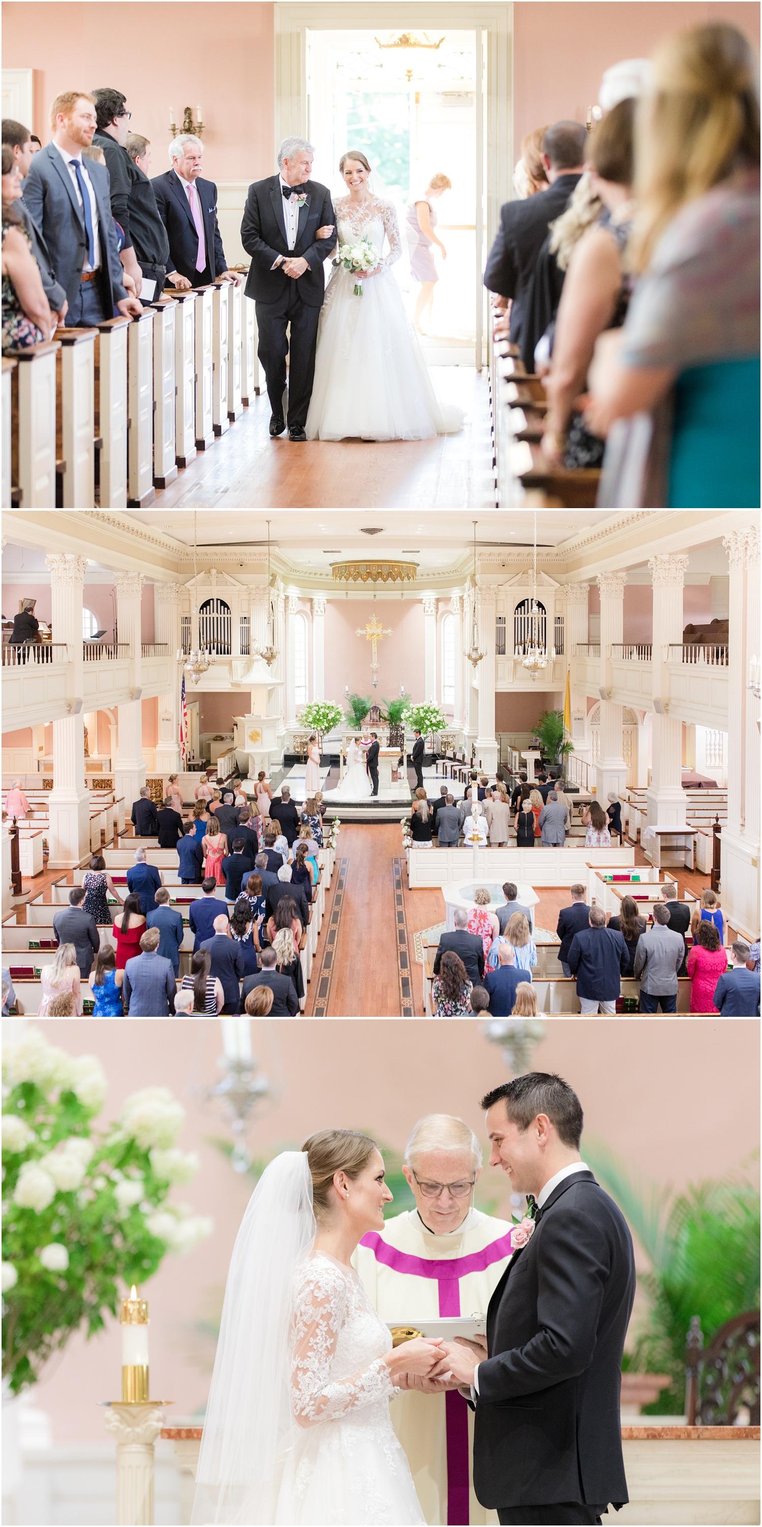 Wedding ceremony at St. Rose of Lima in Short Hills, NJ.