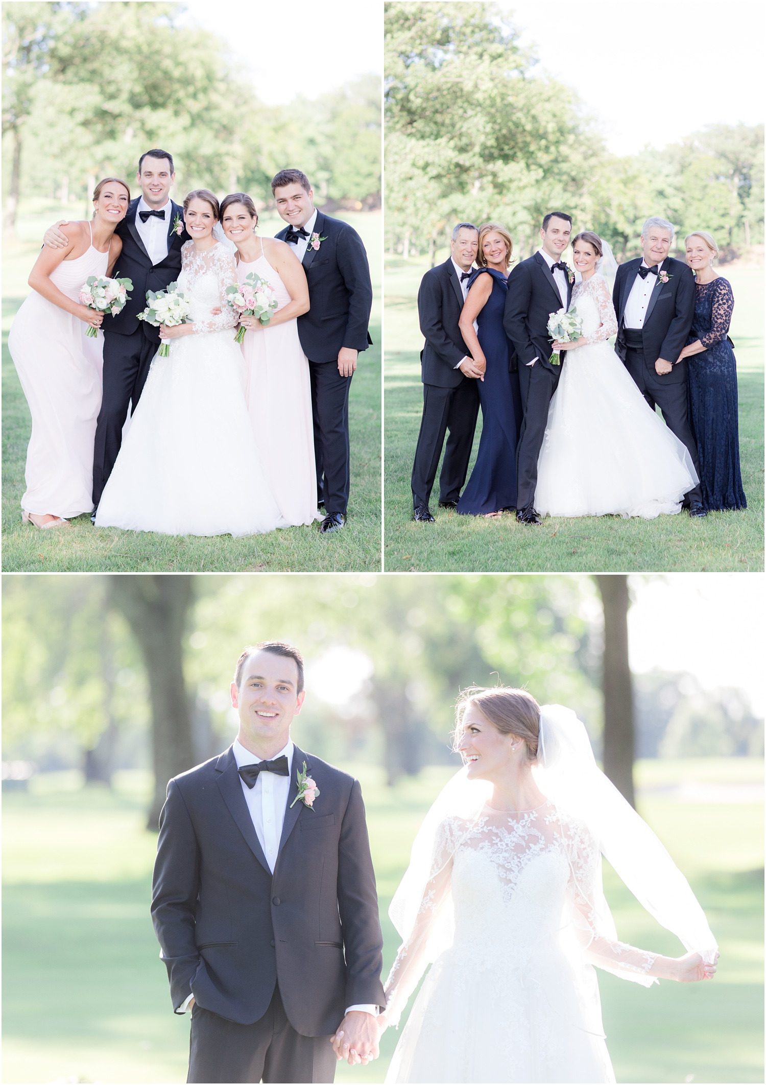Family portraits for a wedding at Canoe Brook Country Club