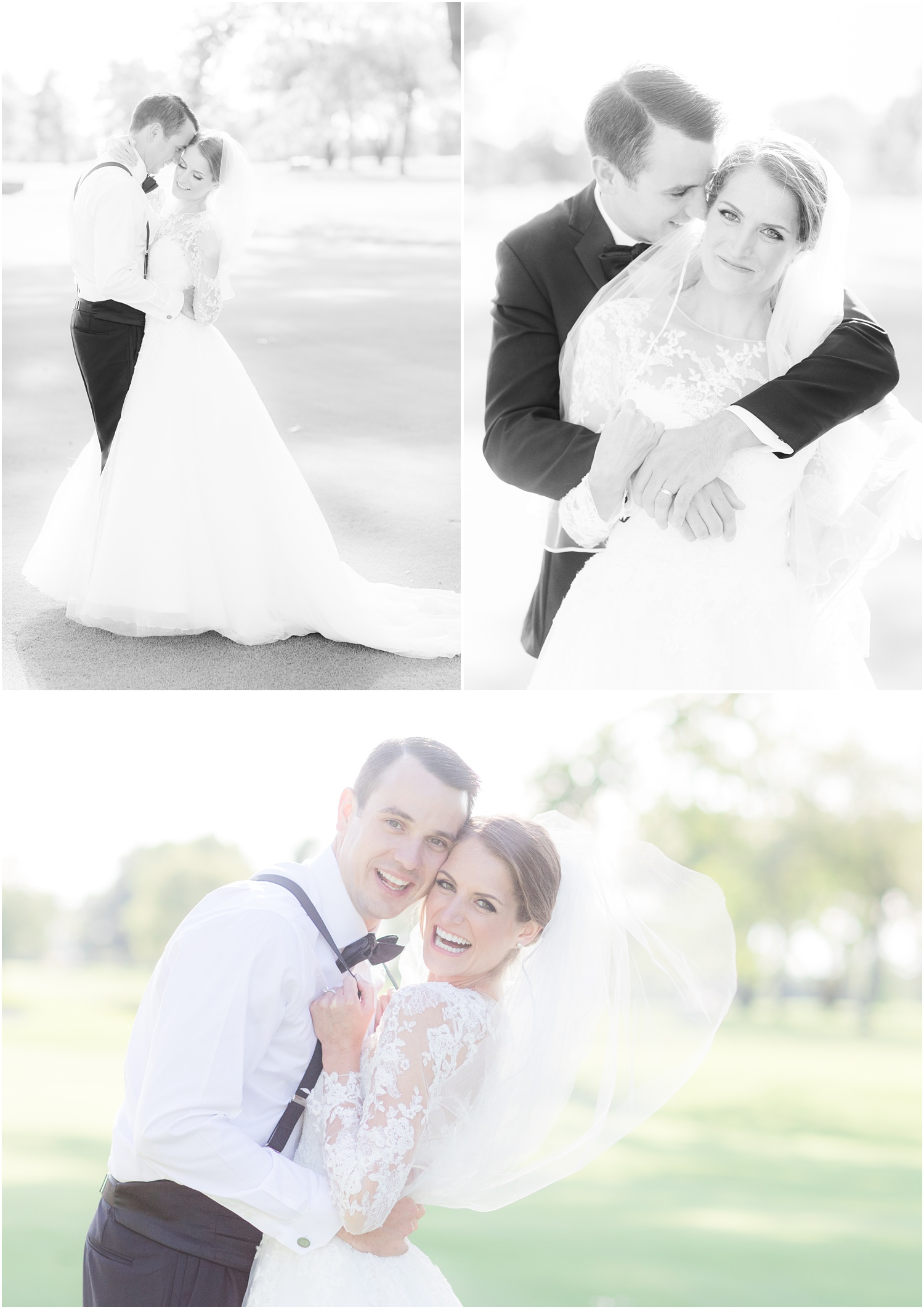 Romantic bride and groom photos at Canoe Brook Country Club
